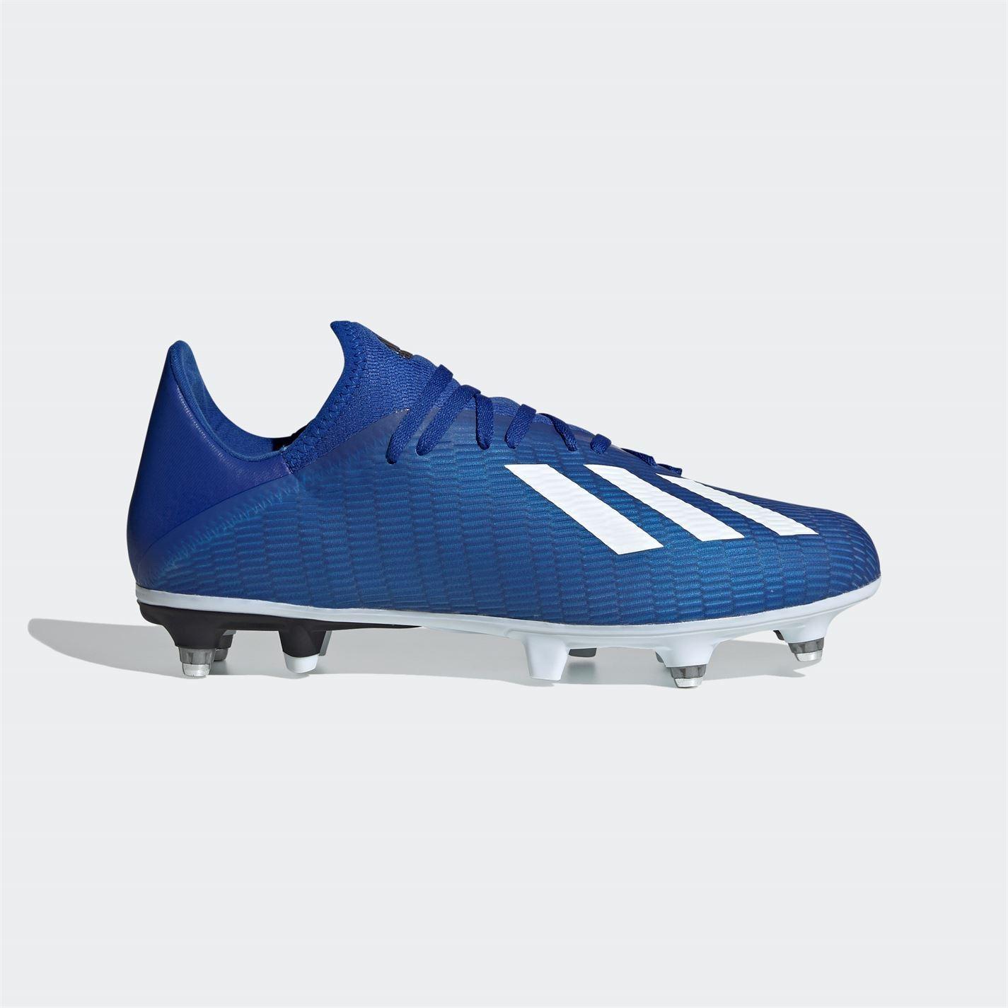 Adidas-X-19-3-Homme-SG-Terrain-Souple-Chaussures-De-Football-Chaussures-de-Foot-Crampons-Baskets miniature 3