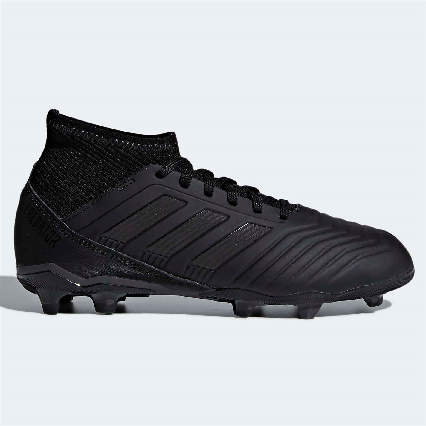 new arrival 2fa75 2c49e ... adidas Predator 18.3 FG Firm Ground Football Boots Childs Black Soccer  Cleats ...