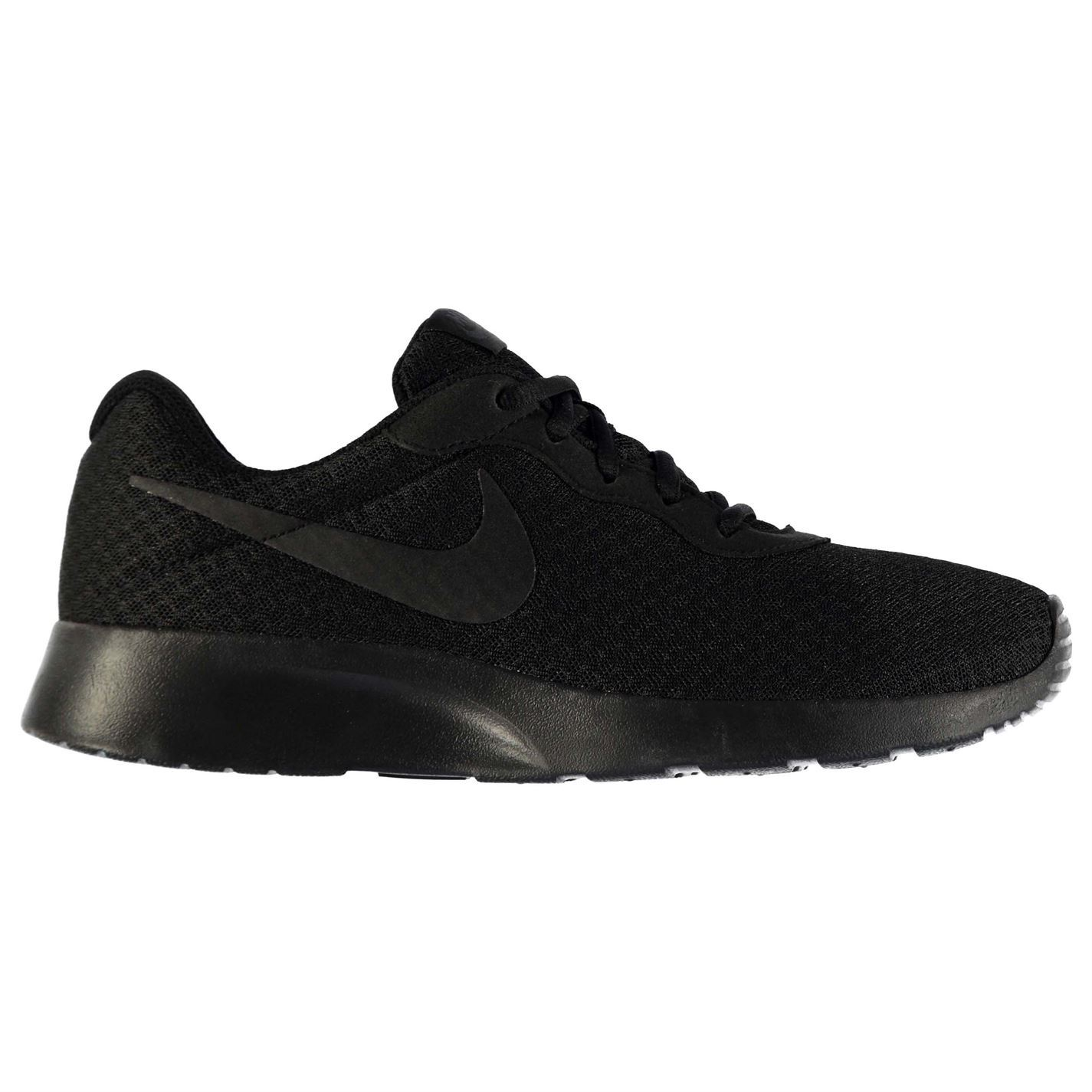 0e8be6153c24 Details about Nike Tanjun Trainers Mens Black Black Sports Shoes Sneakers  Footwear