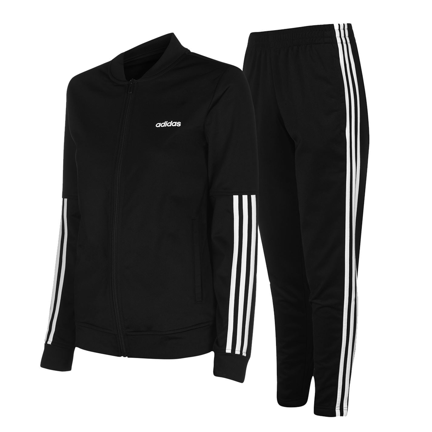 Sono depressi biologia spedizione  Adidas Back 2 Basics Set Tracksuit Womens Black/White Ladies Jacket Top  Bottoms | eBay