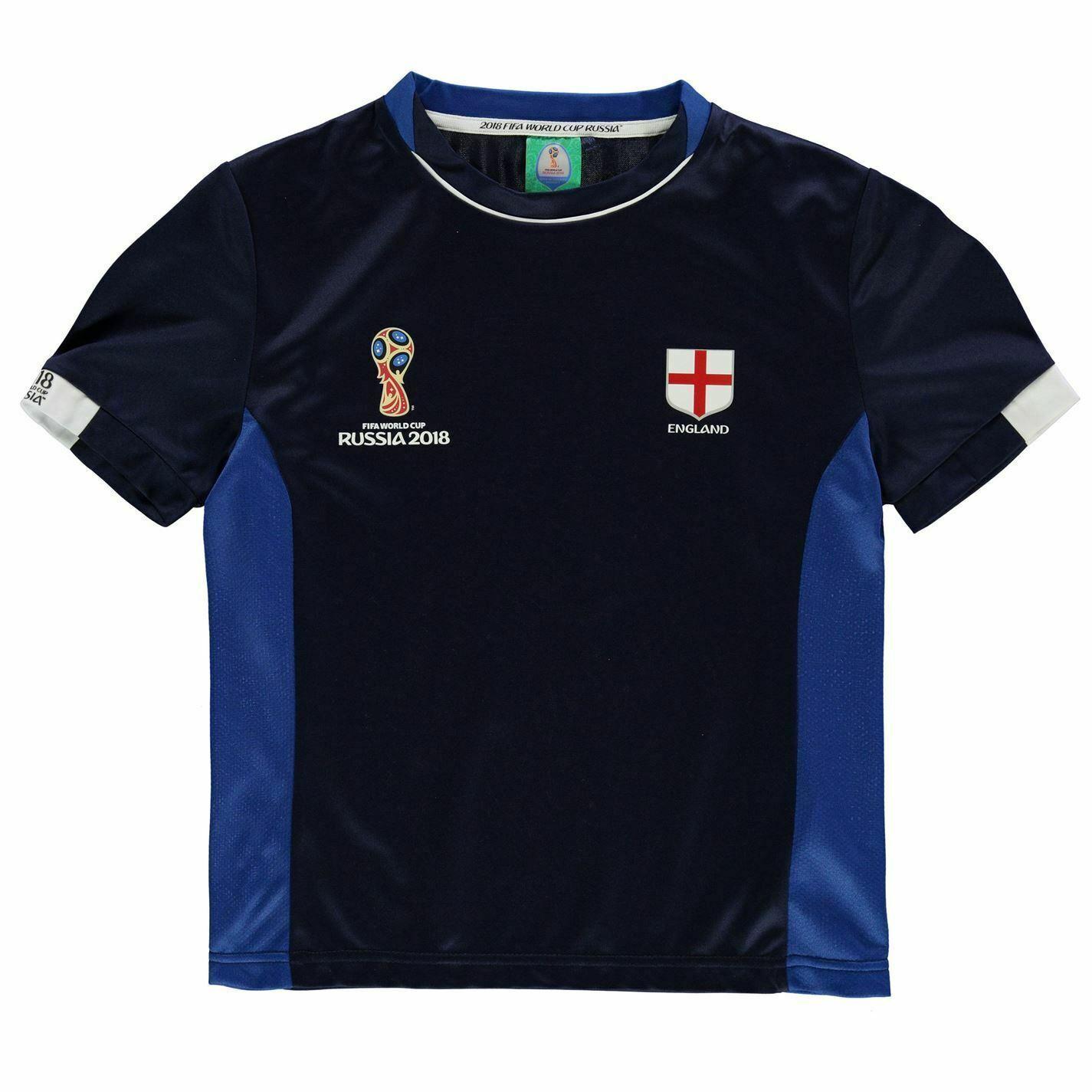 miniature 4 - FIFA Coupe du monde 2018 Angleterre T-Shirt Juniors FOOTBALL SOCCER top tee shirt