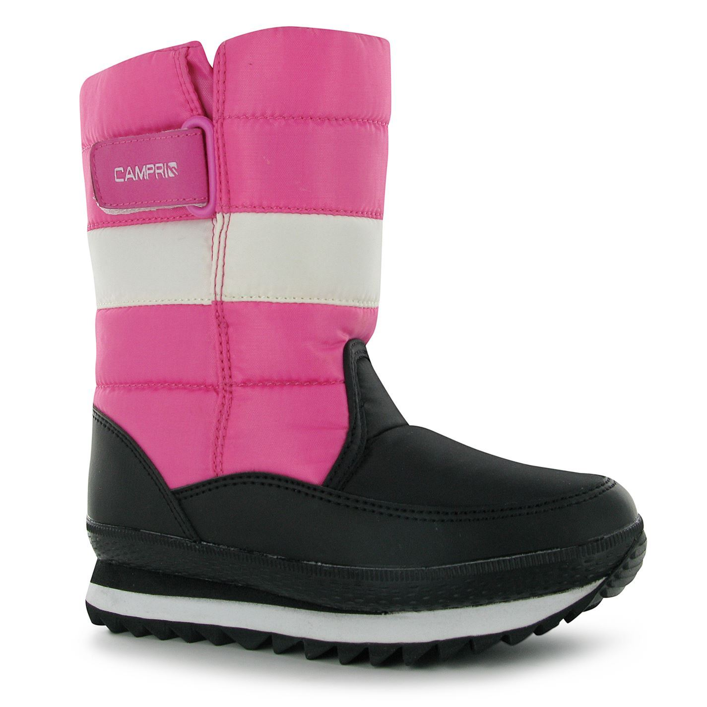 Campri Snow Jogger Boots Infants Girls Black Pink Baby Winter Shoes