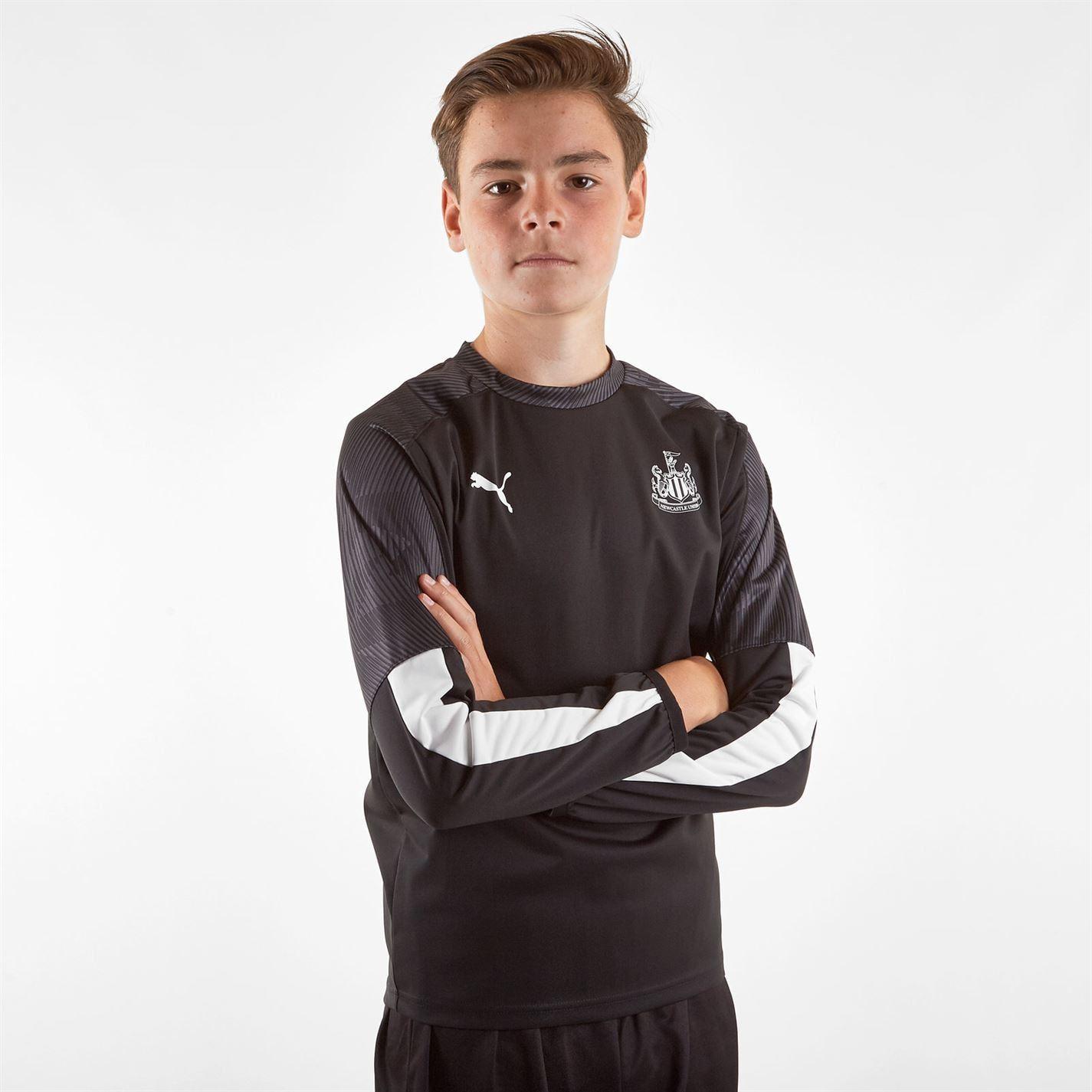 Puma-Newcastle-United-T-Shirt-Junior-Football-Boys-Soccer-Fan-Jersey-Drill-Top thumbnail 3