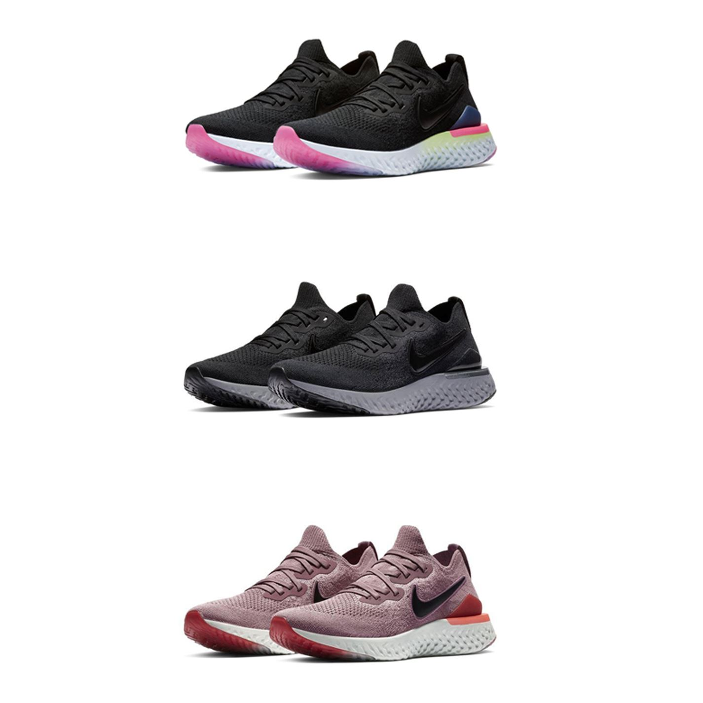 Detalles de Nike Epic React Flyknit 2 Zapatillas Running Mujer Trote Fitness