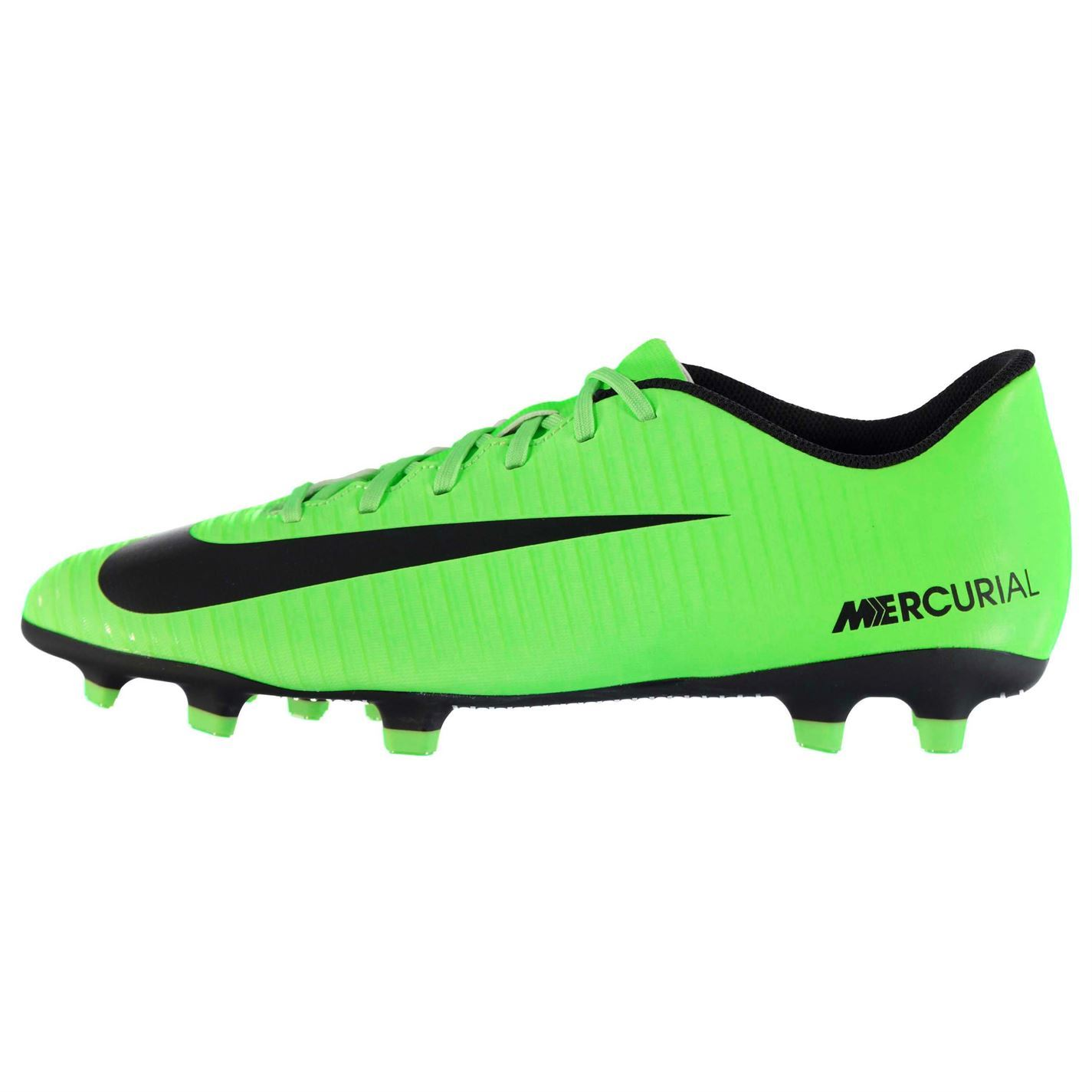Details about Nike Mercurial Vortex FG Firm Ground Football Boots Mens  Grn Blk Soccer Shoes 4f8be18325