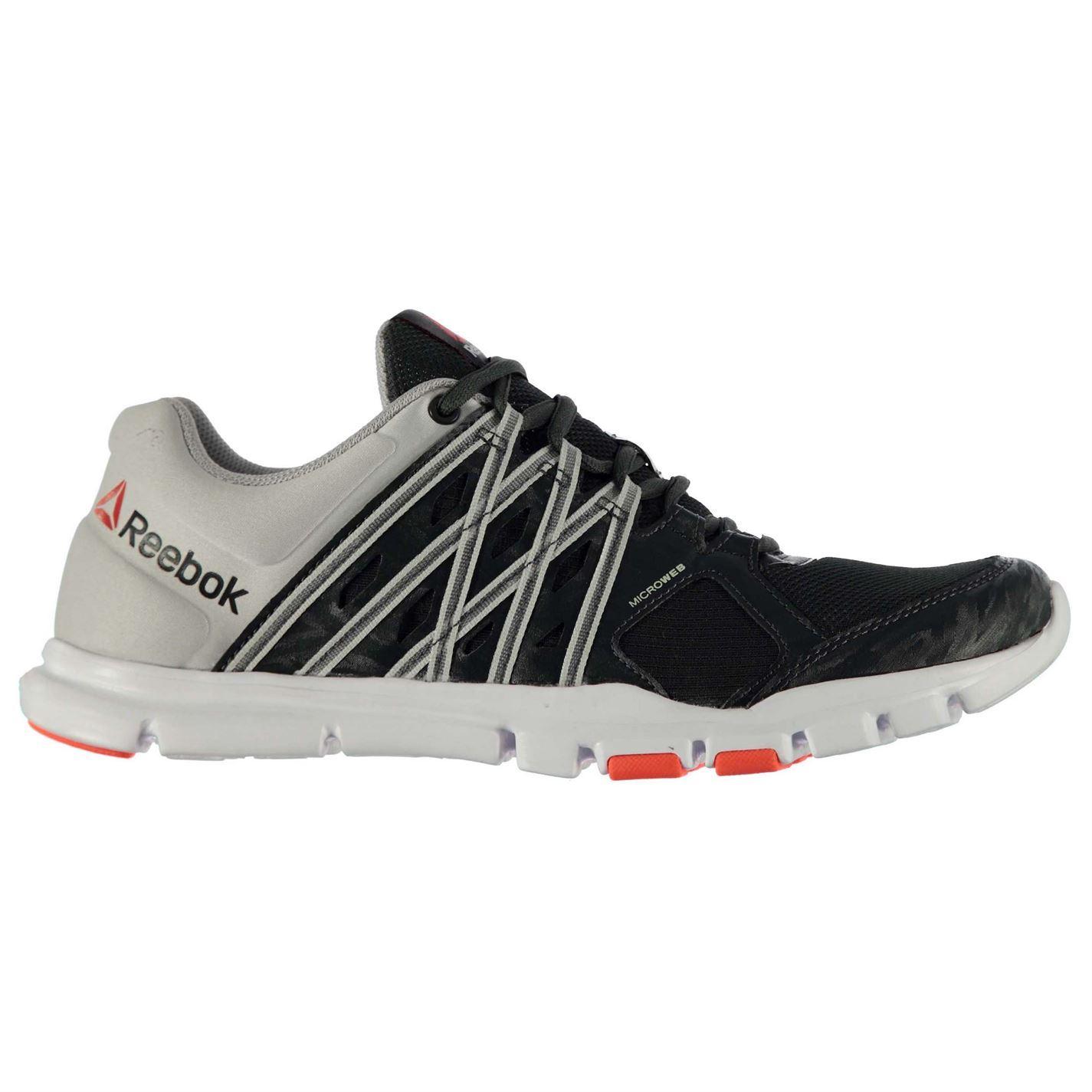 1751999de19b5 ... Reebok YourFlex 8 Trainers Mens Gravel Steel Red Sports Shoes Sneakers  Footwear ...