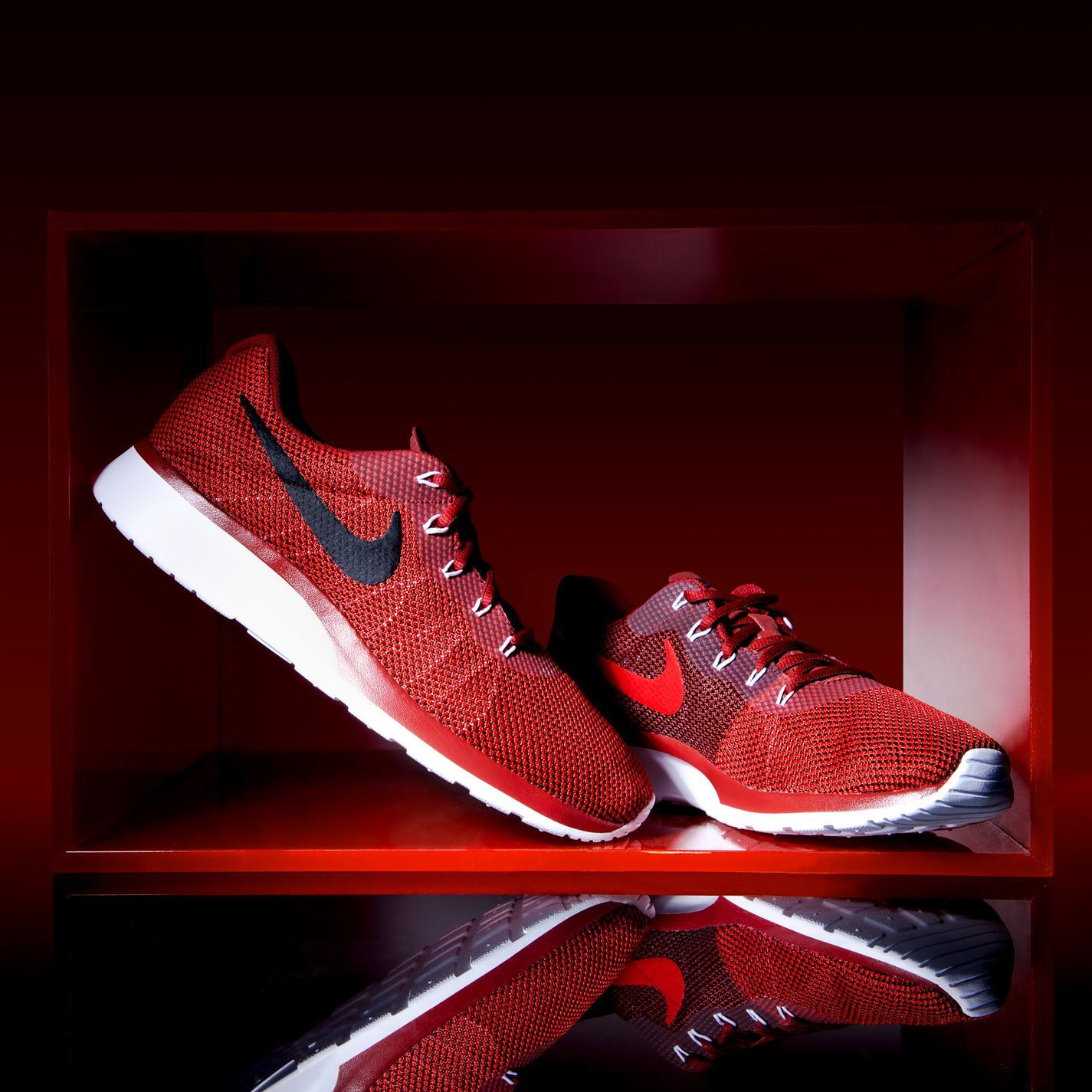 39f6ce7ae42f ... uk nike tanjun racer trainers mens red black athletic sneakers shoes  6a60c 5f872