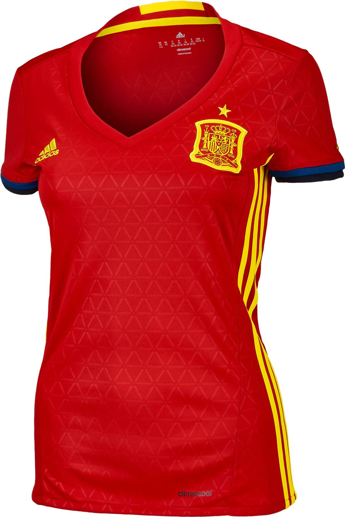 e1366263c ... adidas Spain Home Jersey 2016 2017 Womens Red Football Soccer Shirt Top  Ladies ...