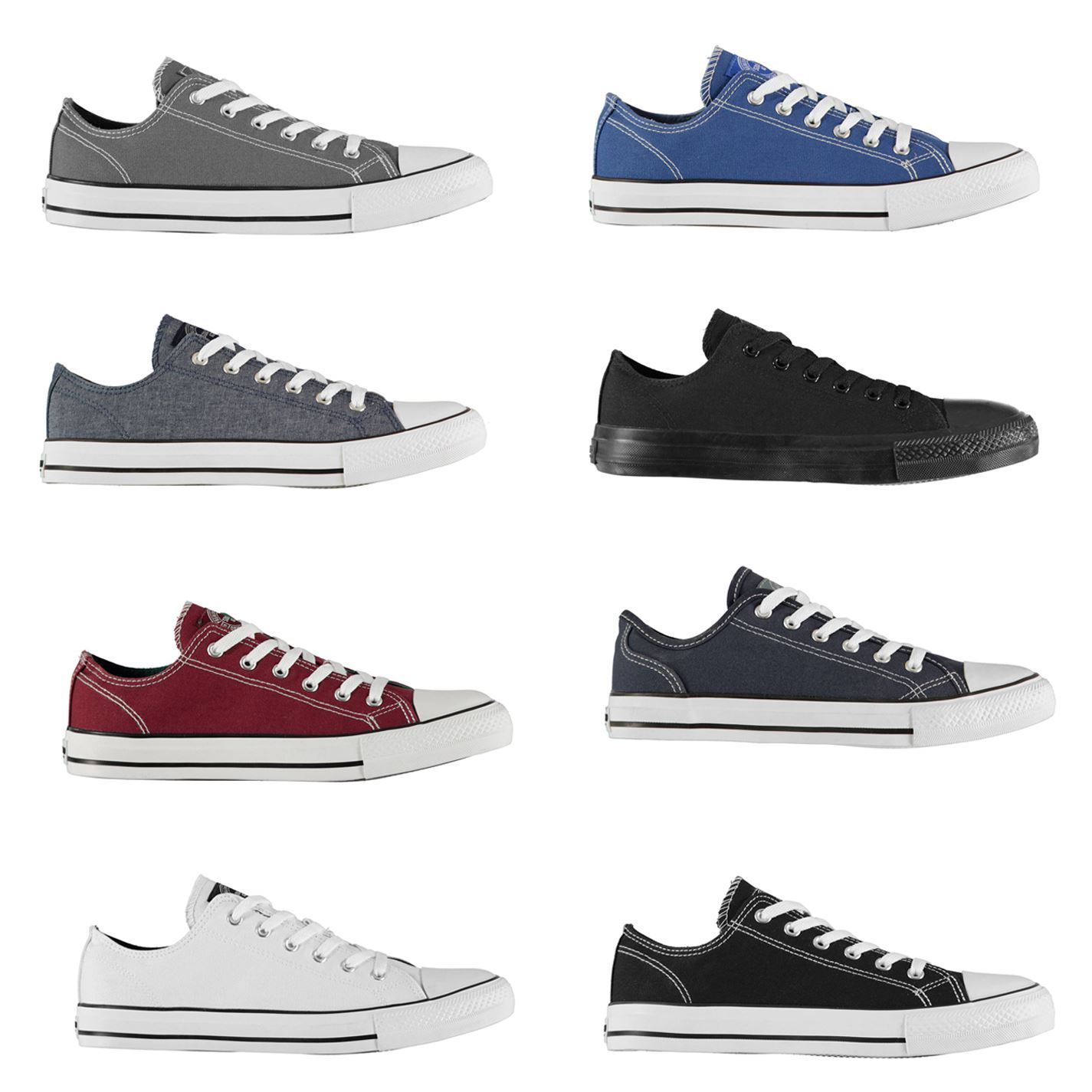 SoulCal Canvas Low Mens Trainers Shoes