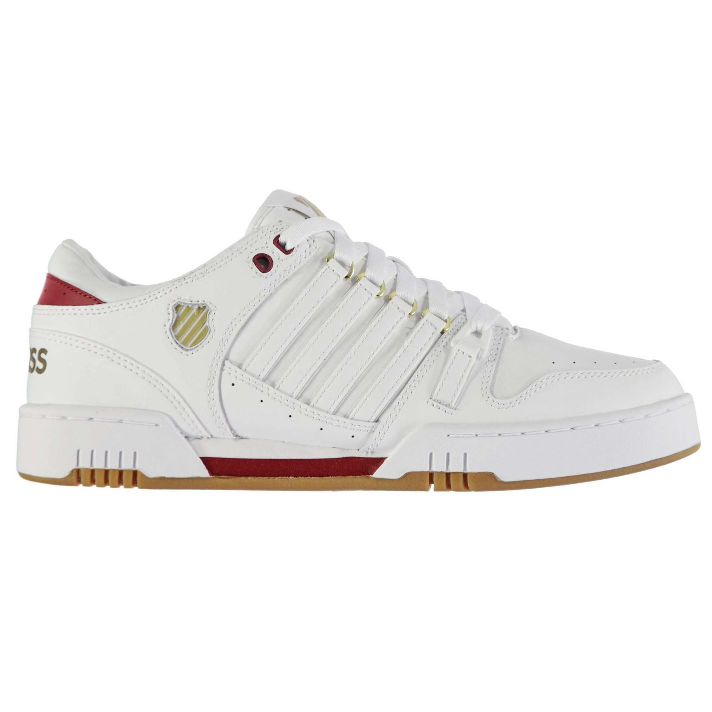 ... K Swiss Avery Trainers Mens White/Red Sports Shoes Sneakers Footwear ...