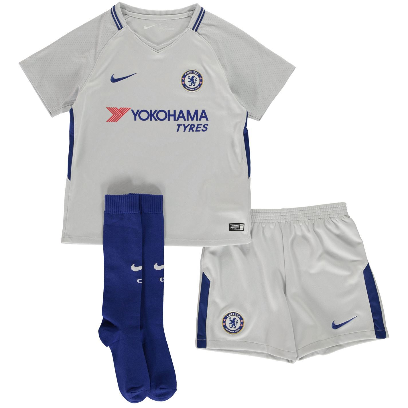 ... Nike Chelsea Away Mini Kit 2017 2018 Infants White Football Soccer  Strip ... 6083f896b