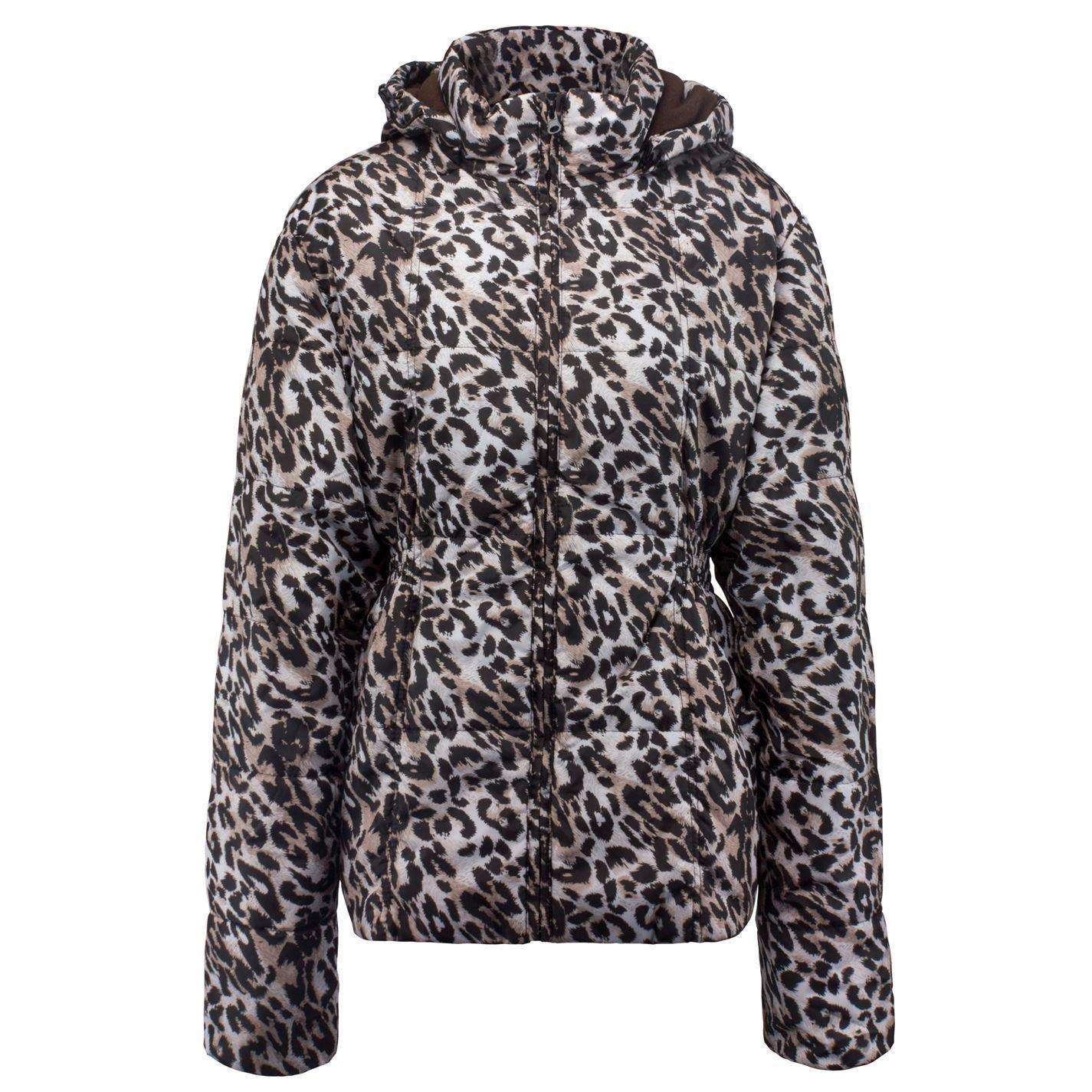 Overtøj Leopard Lee Size Jacket Plus Damefrakker hvid Sort Cooper Print r70xnS7Pq