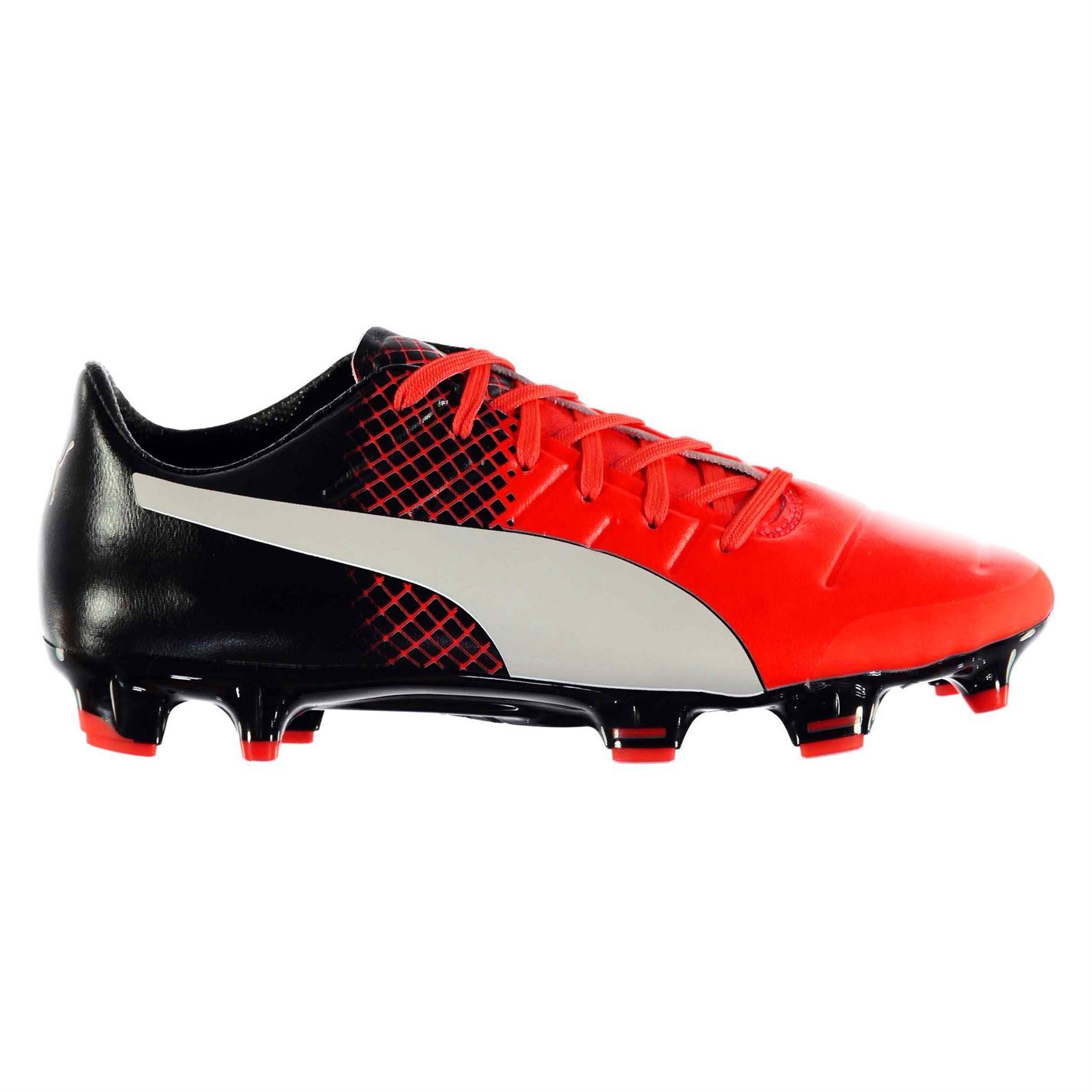 278b779cb59a Details about Puma Evo Power 2.3 FG Firm Ground Football Boots Mens Rd Blk  Soccer Cleats Shoes