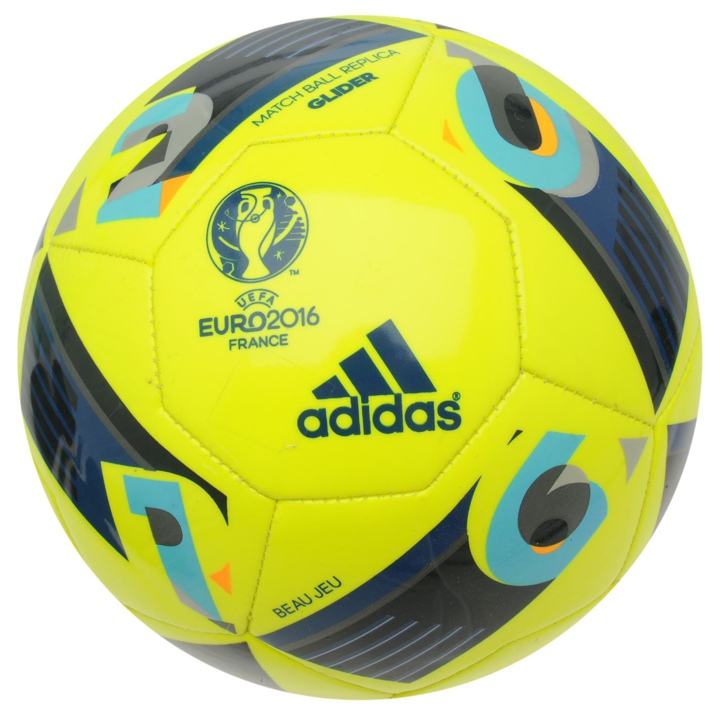 Adidas Euro 2016 Match Ball Glider Football Solar Yellow Soccer Ball ... ce4d76d20d69e