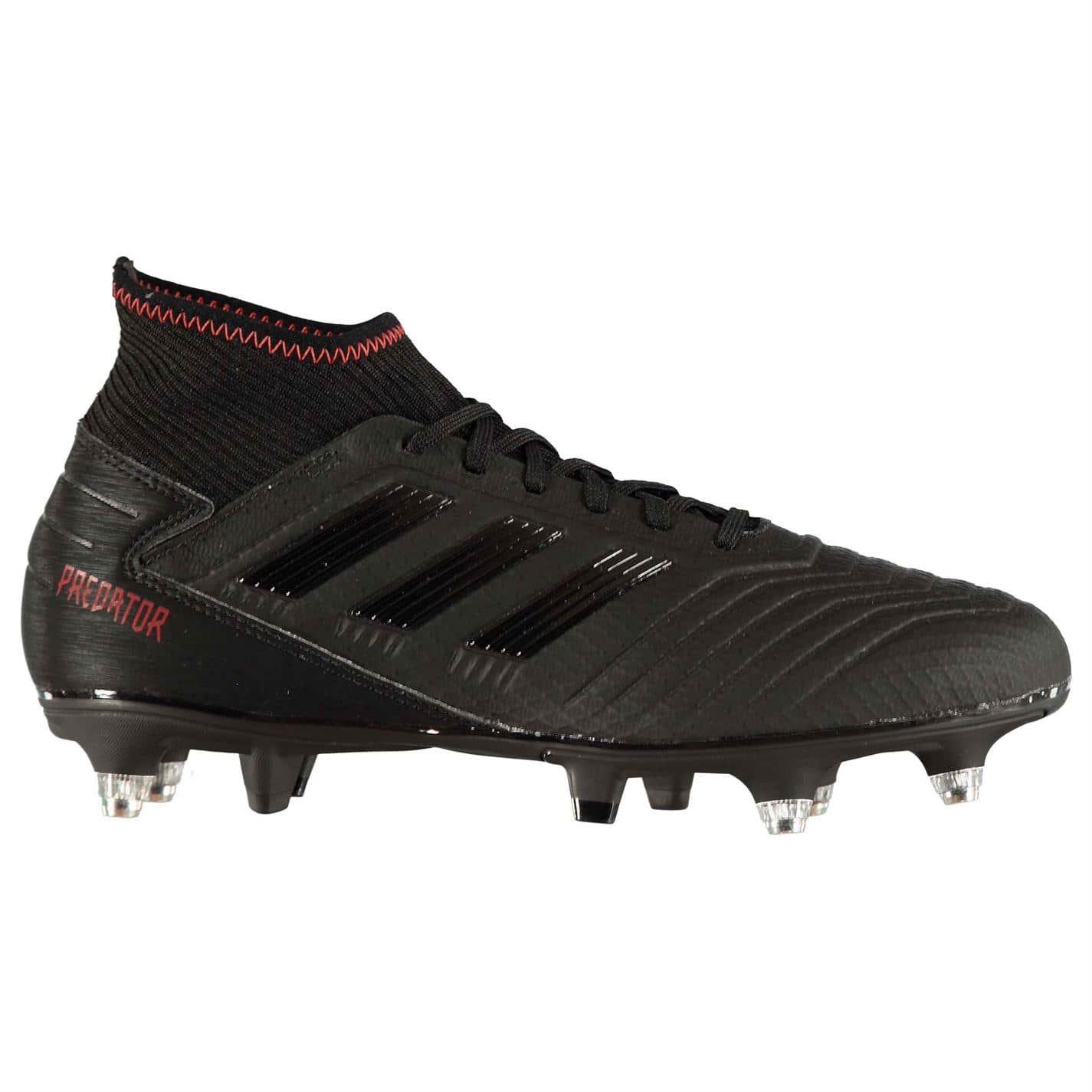 Detalles de Adidas Depredador 19.3 Botas de Fútbol Sg Negro Hombre SPORTS Zapatillas Adulto