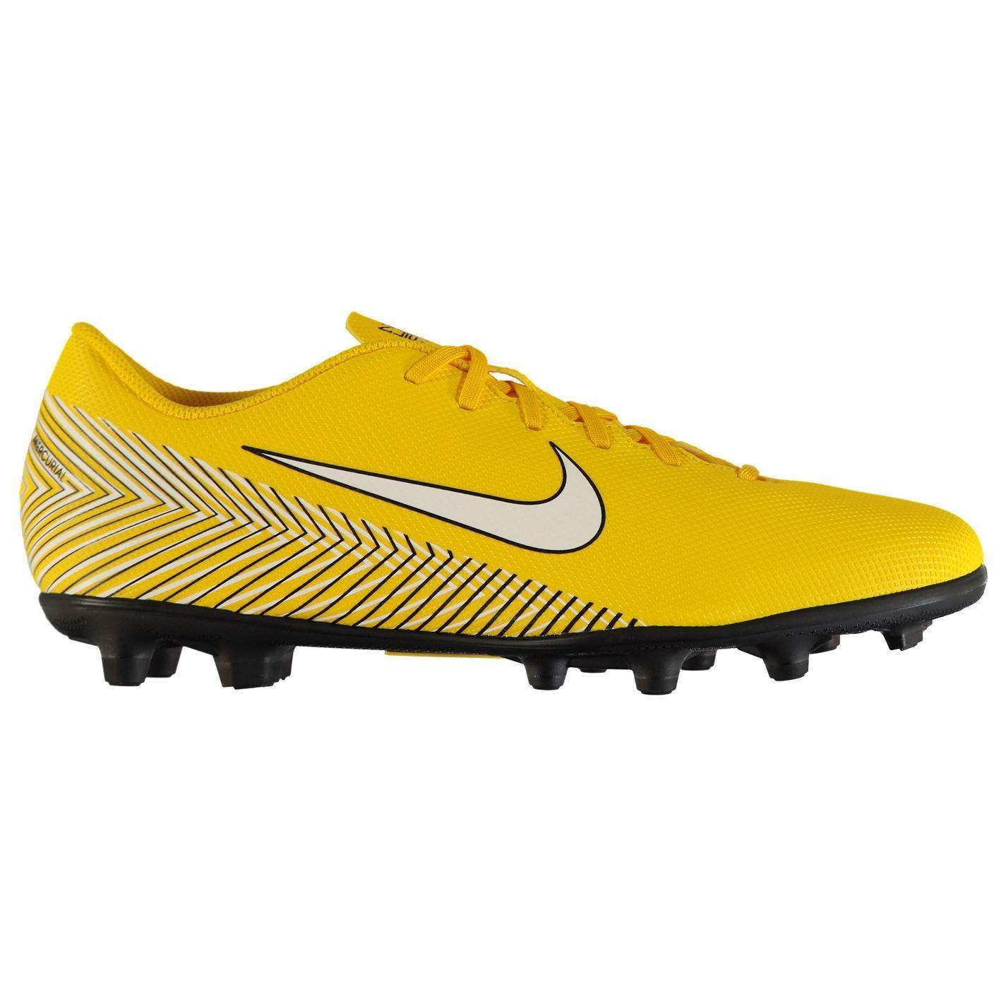très loué style populaire vente à bas prix Détails sur Nike Mercurial Vapor Club Neymar Godasses de Football Fg  Juniors Jaune Crampons
