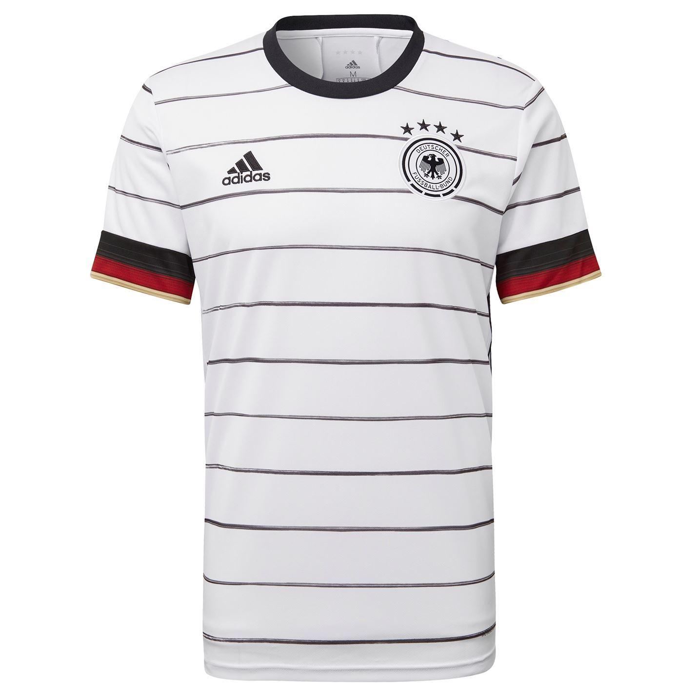 Detalles de Adidas Alemania Home Camisa 2020 Hombres Blanco Fútbol Camiseta Camiseta