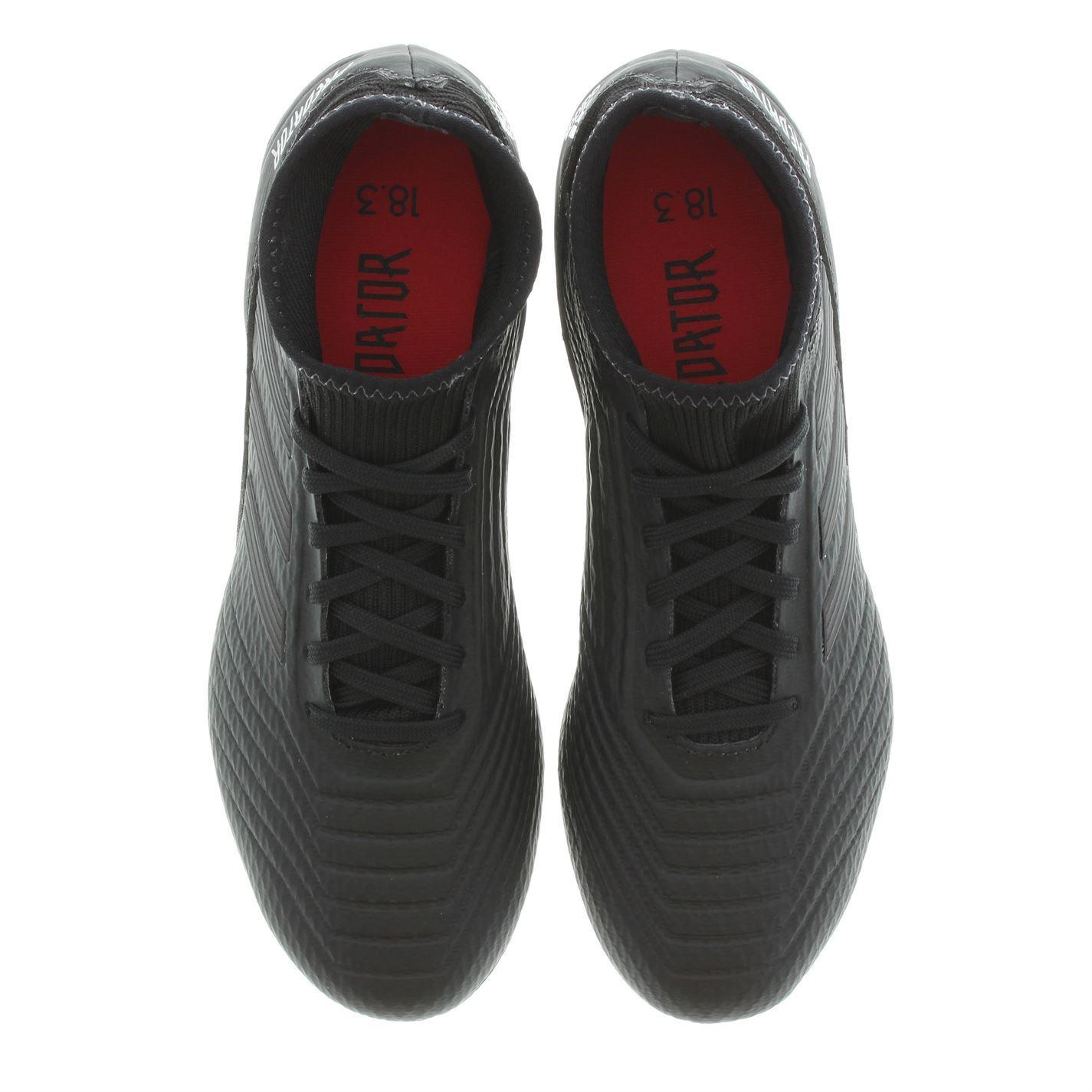 14c813cb9baa6 ... Adidas Predator 1 8.3 FG firma tierra fútbol botas Juniors negro futbol  tacos