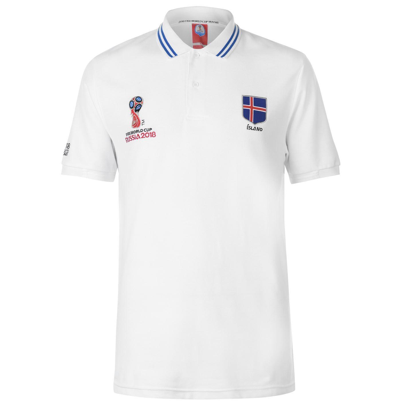 5d4699c35 ... FIFA World Cup 2018 Iceland Polo Shirt Mens White Football Soccer Top T- Shirt ...