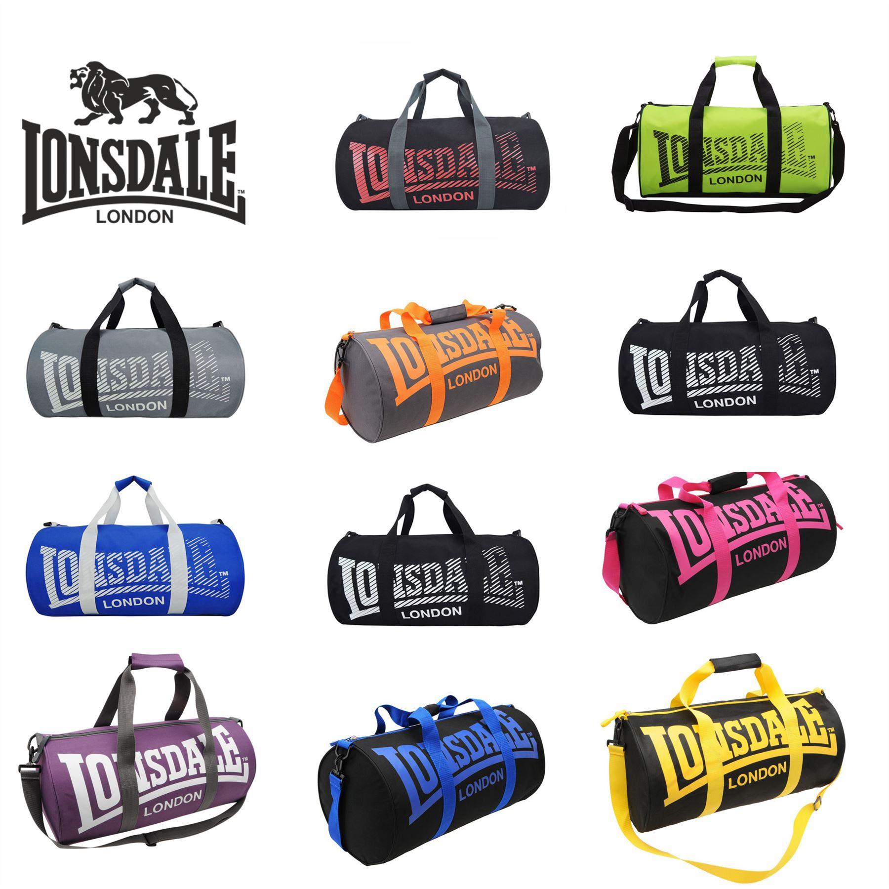 Details about Lonsdale London Holdall Barrel Bag Kitbag Gym Fitness Carryall fcf42496678ce