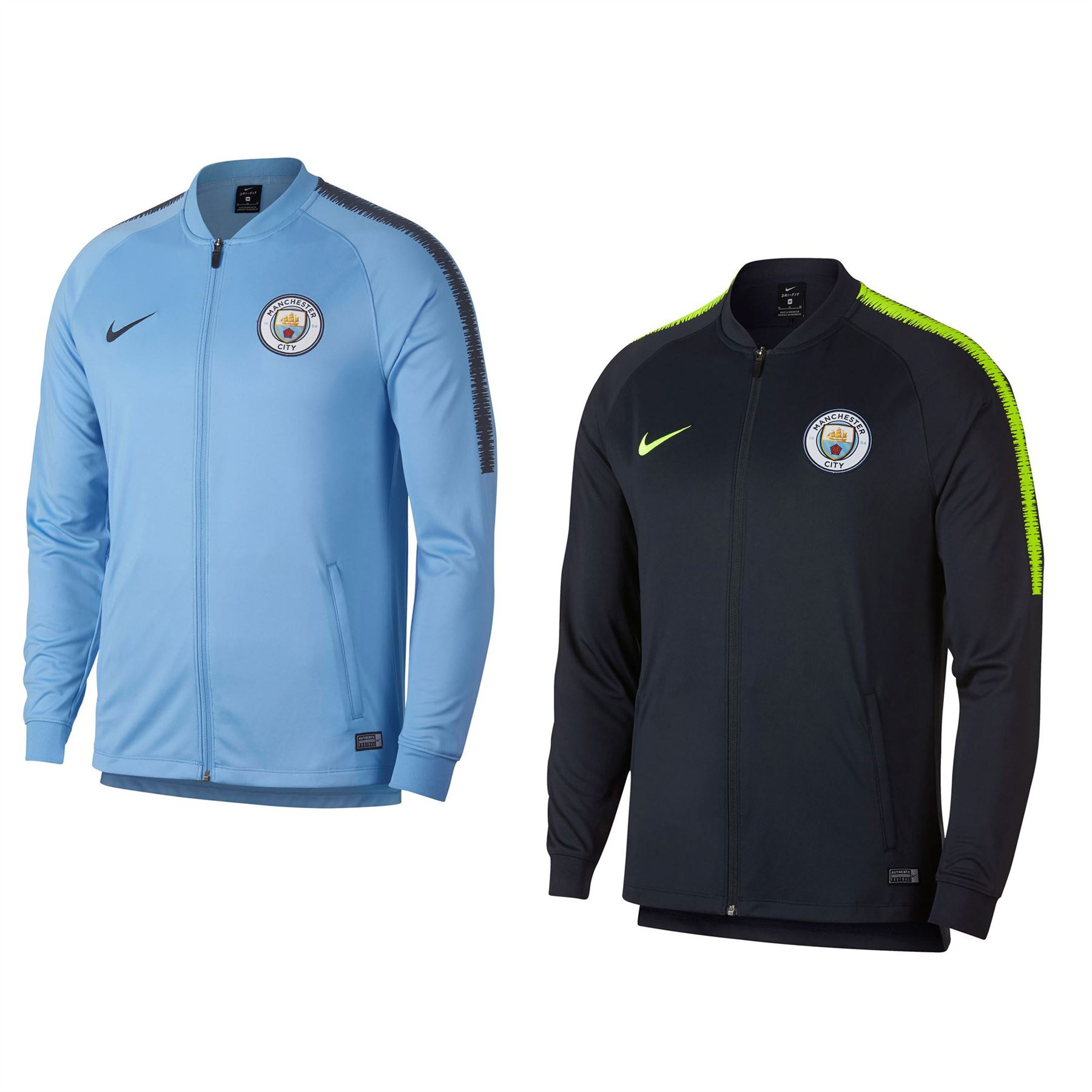 6b46b6df1e Nike Manchester City Track Jacket Mens Football Soccer Tracksuit Top ...