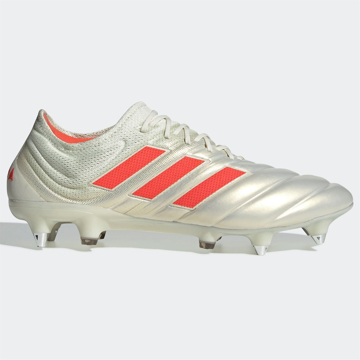 6cf189f553 Details about adidas Copa 19.1 SG Soft Ground Football Boots Mens White/Red  Soccer Shoe Cleats