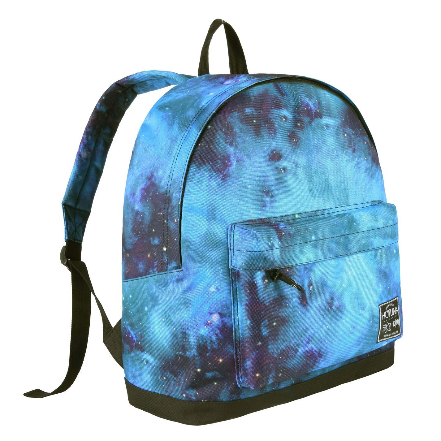 0cd4c8b650 Details about Hot Tuna Galaxy Backpack Blue Black Bag Holdall Carryall  Rucksack Knapsack