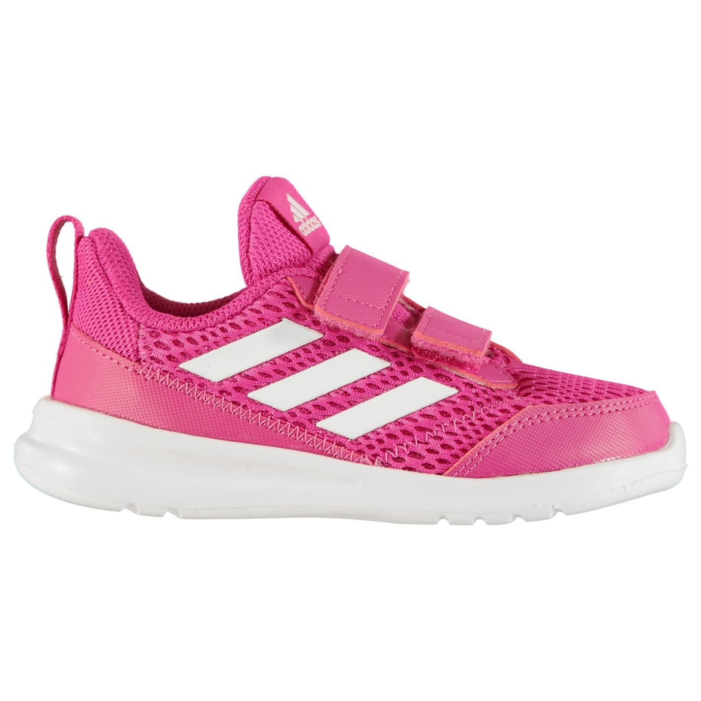 Details about adidas AltaRun Trainers Infants Girls PinkWhite Shoes Sneakers Kids Footwear