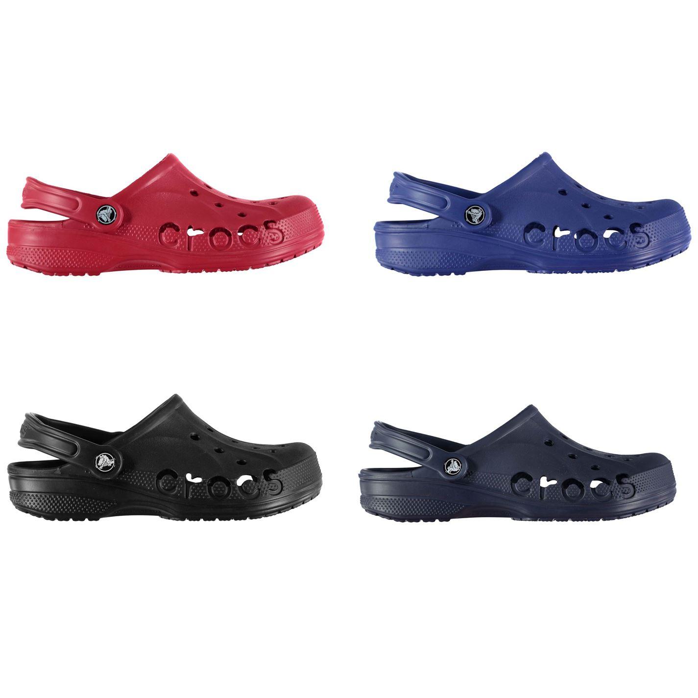 huge discount 4ded0 750b0 Details about Crocs Baya Clogs Juniors Boys Sandals Flip Flops Thongs Beach  Shoes
