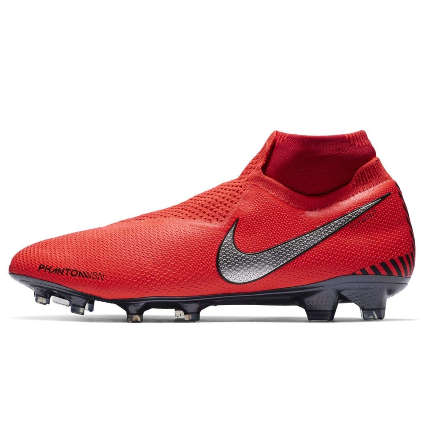 Zapatos Fútbol Niño Nike Phantom Venom Club FG RojoPlata
