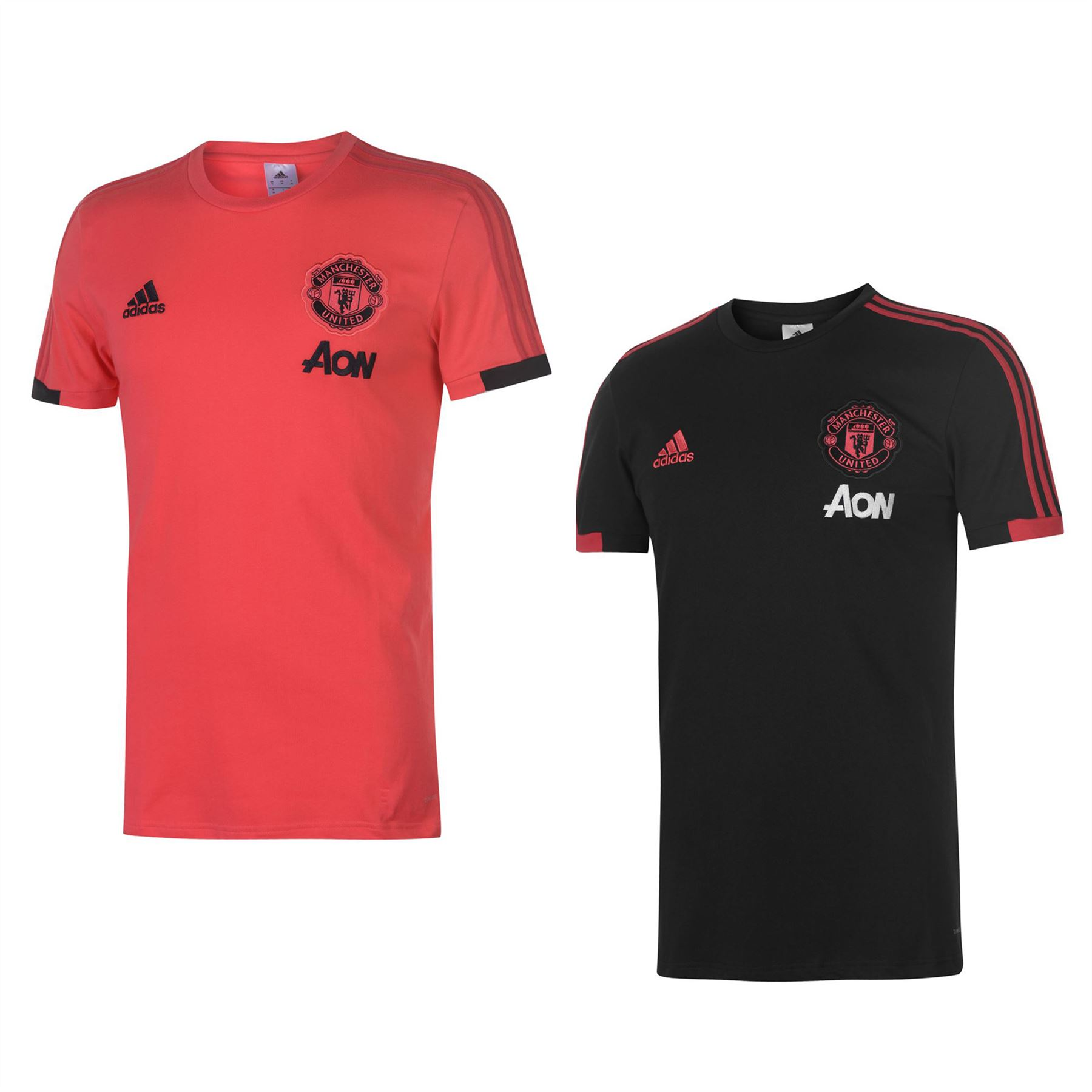 free shipping a4a30 d283d Details about adidas Manchester United T-Shirt 2018 2019 Mens Football  Soccer Top Tee