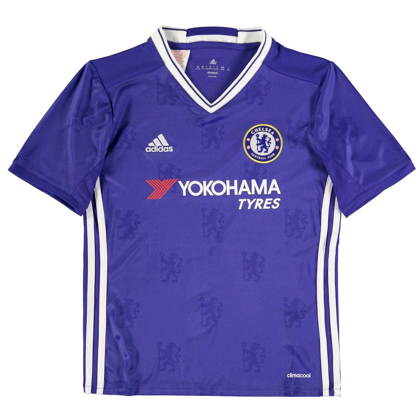 Adidas Chelsea FC Home Jersey 2016 2017 Juniors Royal Football Soccer Top  Shirt 0ca519309