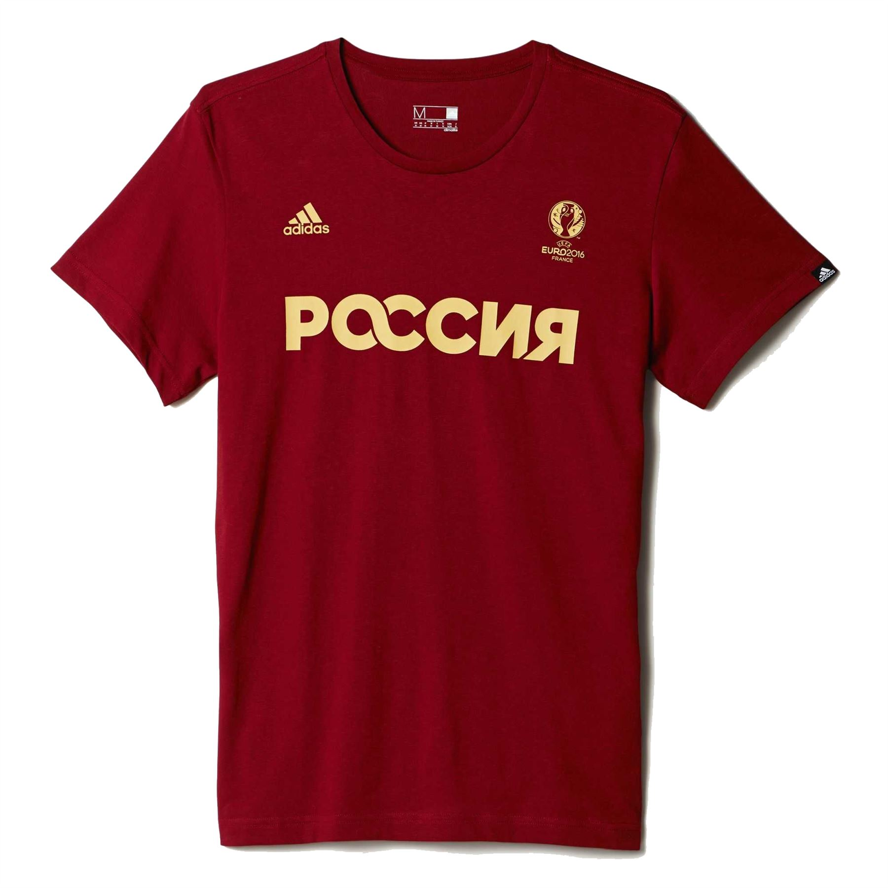 Adidas Russia Climalite T-Shirt Mens Red Football Soccer