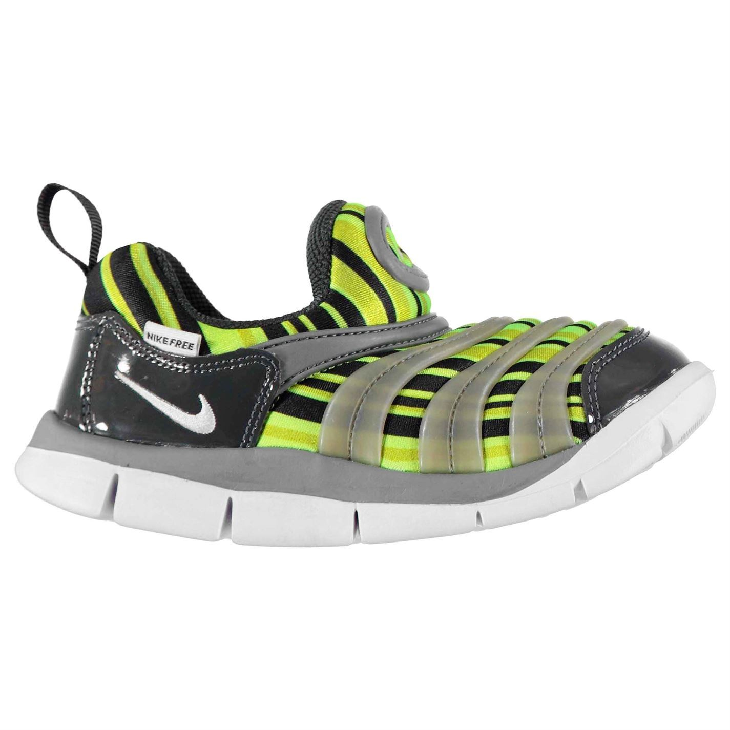 68487cb1a3a9 Details about Nike Dynamo Free Print Infant Boys Trainers  Yellow White Black Shoes Footwear