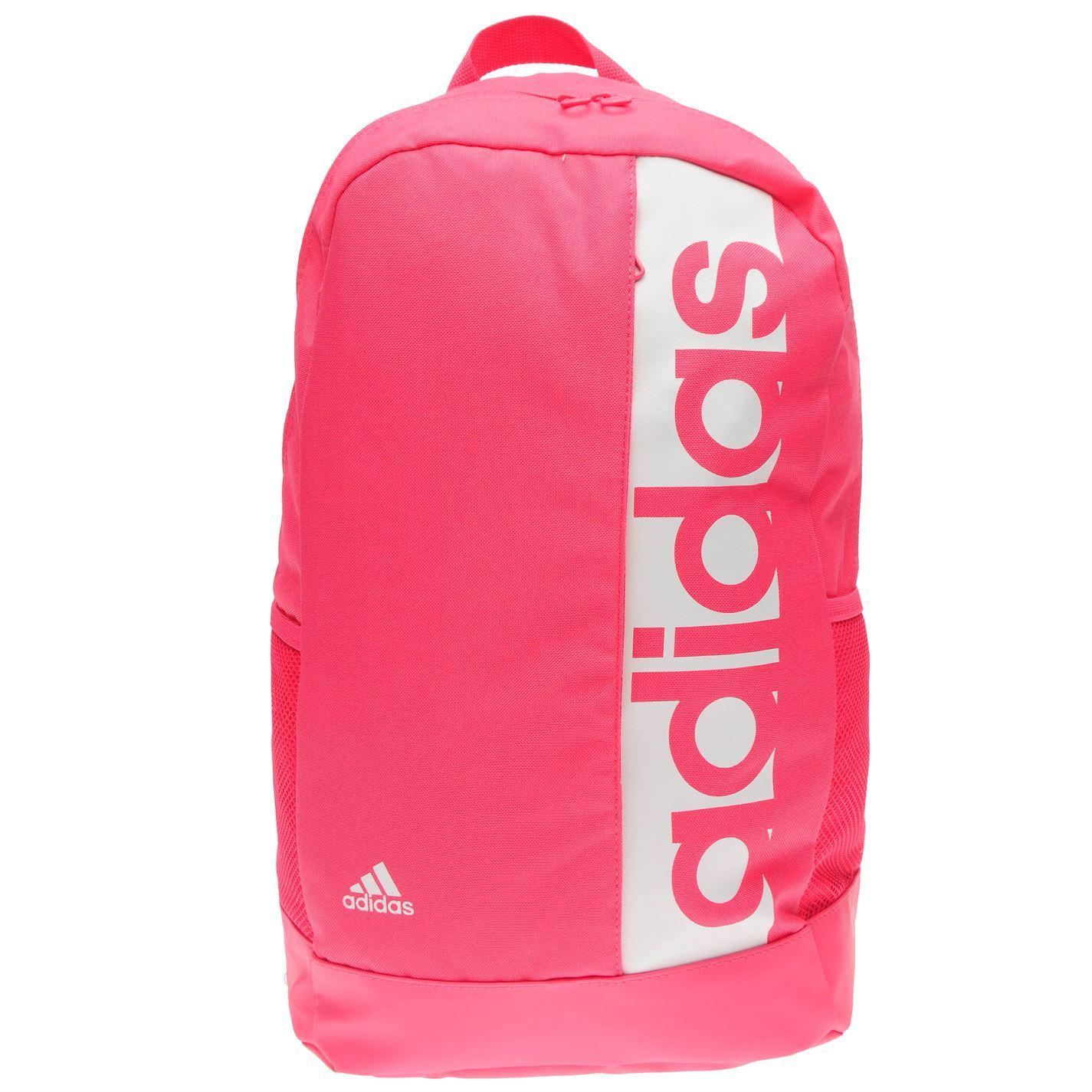0f3262ad27 ... adidas Linear Backpack Pink White Rucksack Daypack Bag ...