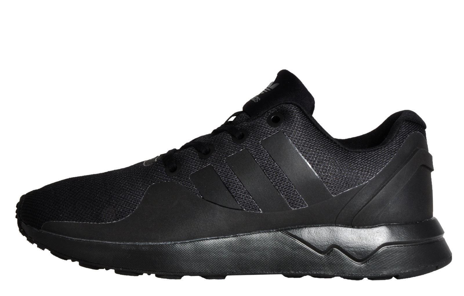 d30f121f8 ... adidas Originals ZX Flux ADV Tech Trainers Mens Black Sneakers Shoes  Footwear ...