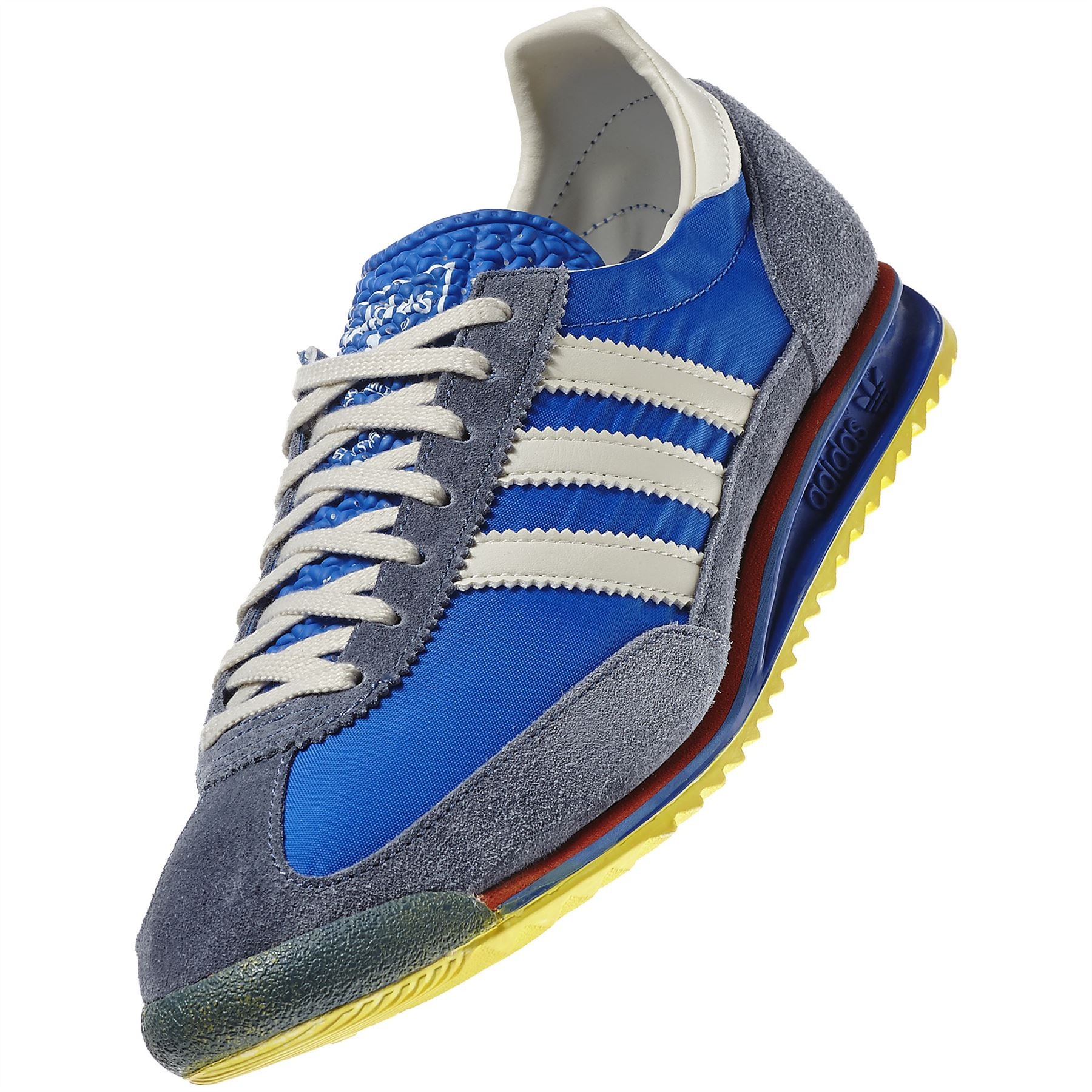 Adidas Originals Sl 72 Vintage Trainers Mens Blue Retro