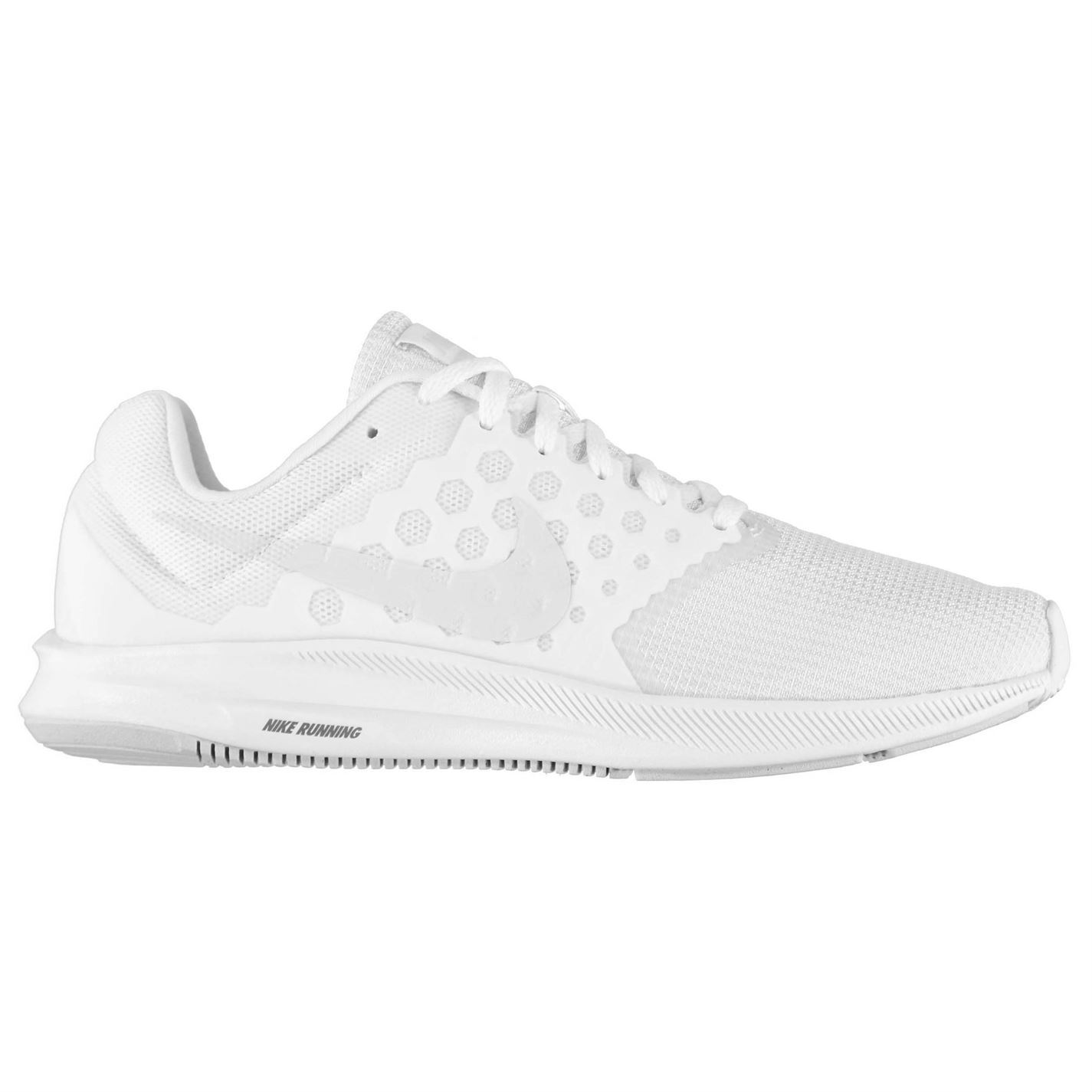 1f08c22cdb83 ... Nike Downshifter 7 Trainers Mens White Platinum Athletic Sneakers Shoes  ...