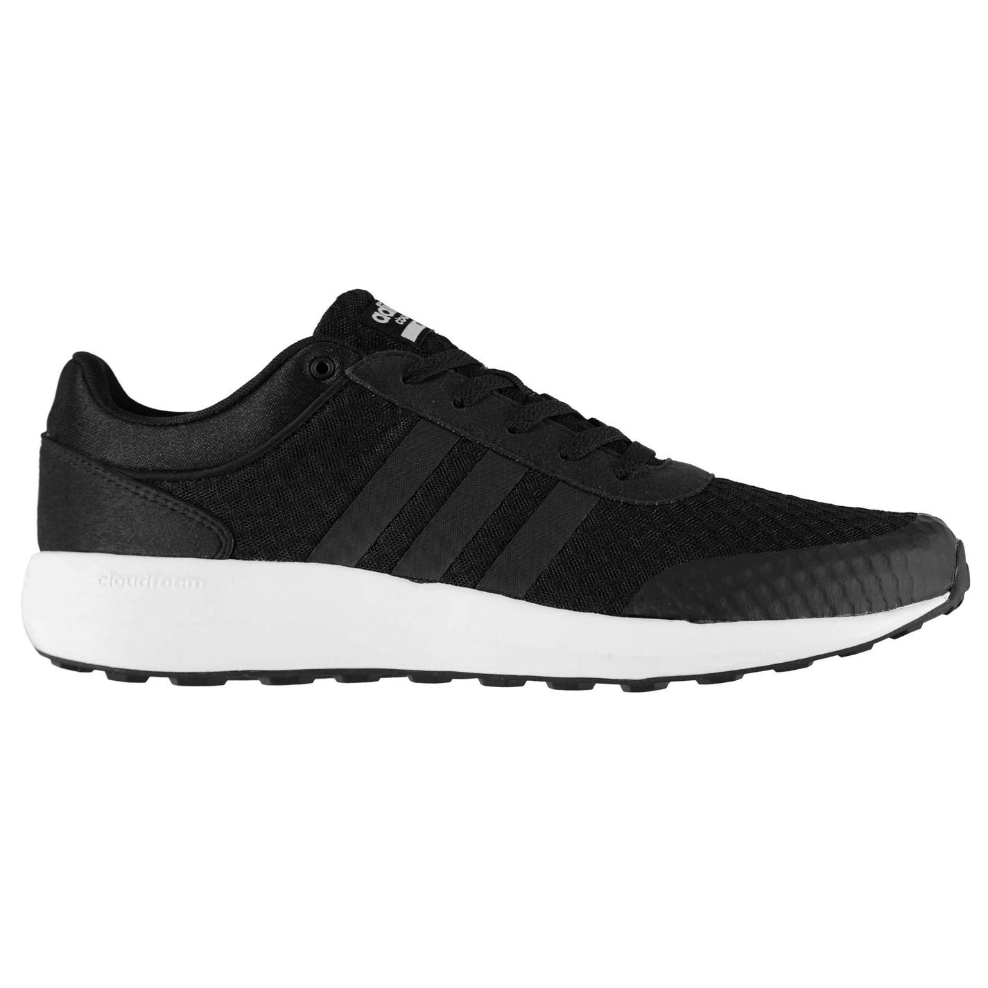 Regularidad torneo amor  adidas Cloudfoam Race Running Shoes Mens Black/White Jogging Trainers  Sneakers | eBay