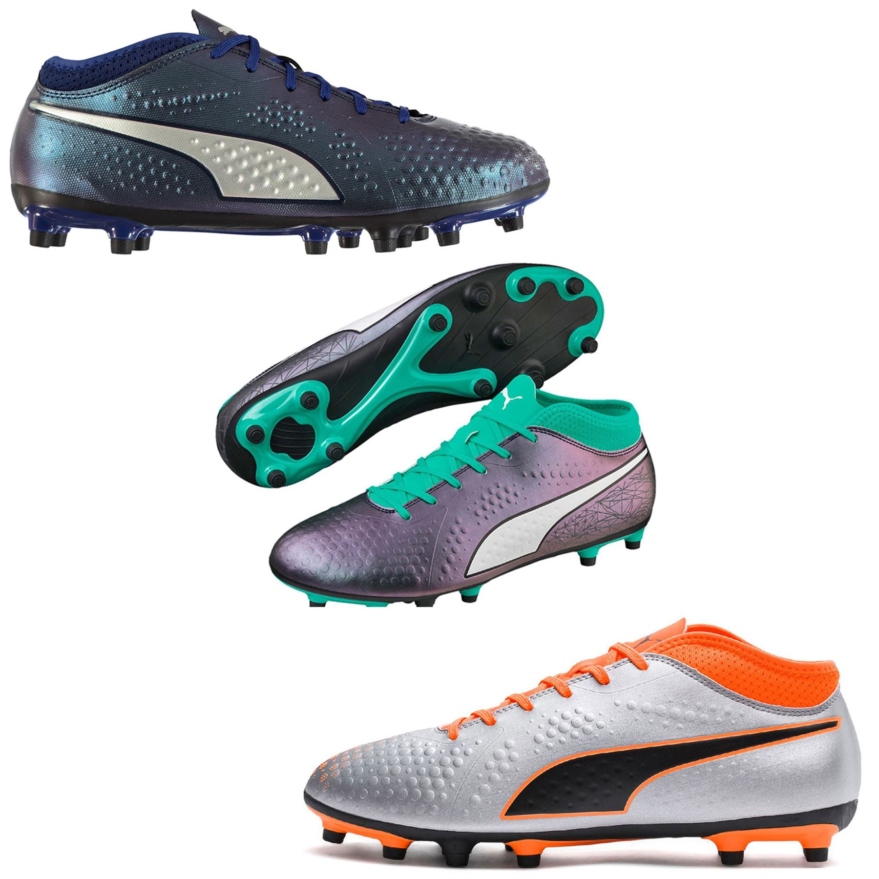 9a10632d72e7 Details about Puma ONE 4 FG Firm Ground Football Boots Mens Soccer Shoes  Cleats