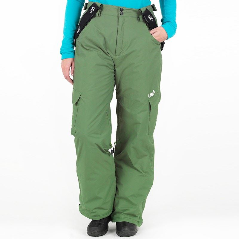 Urban Beach Series 5000 Salopettes Womens Green Ski Snowboarding Pants Skiwear