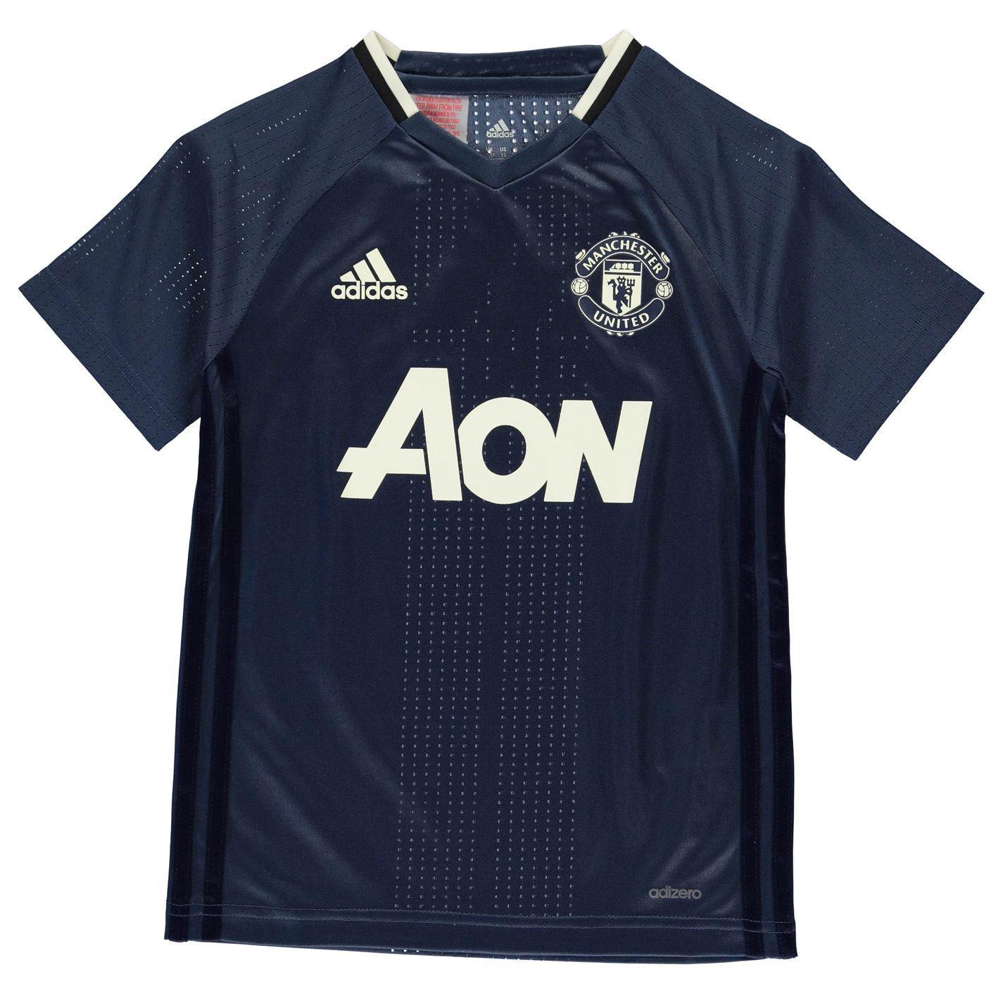 1e35f4996 ... Adidas Manchester United FC Training Jersey Juniors Blue Navy Football  Soccer
