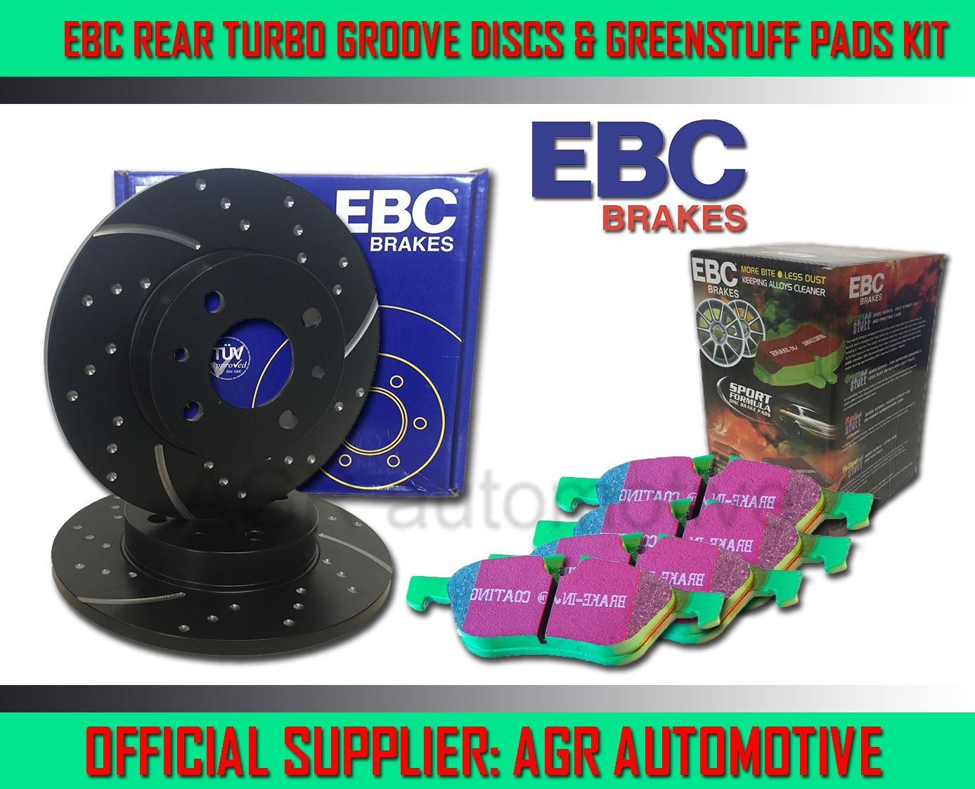 REAR DISCS AND PADS FOR SAAB 9-5 1.9 TD 2005-10 EBC FRONT