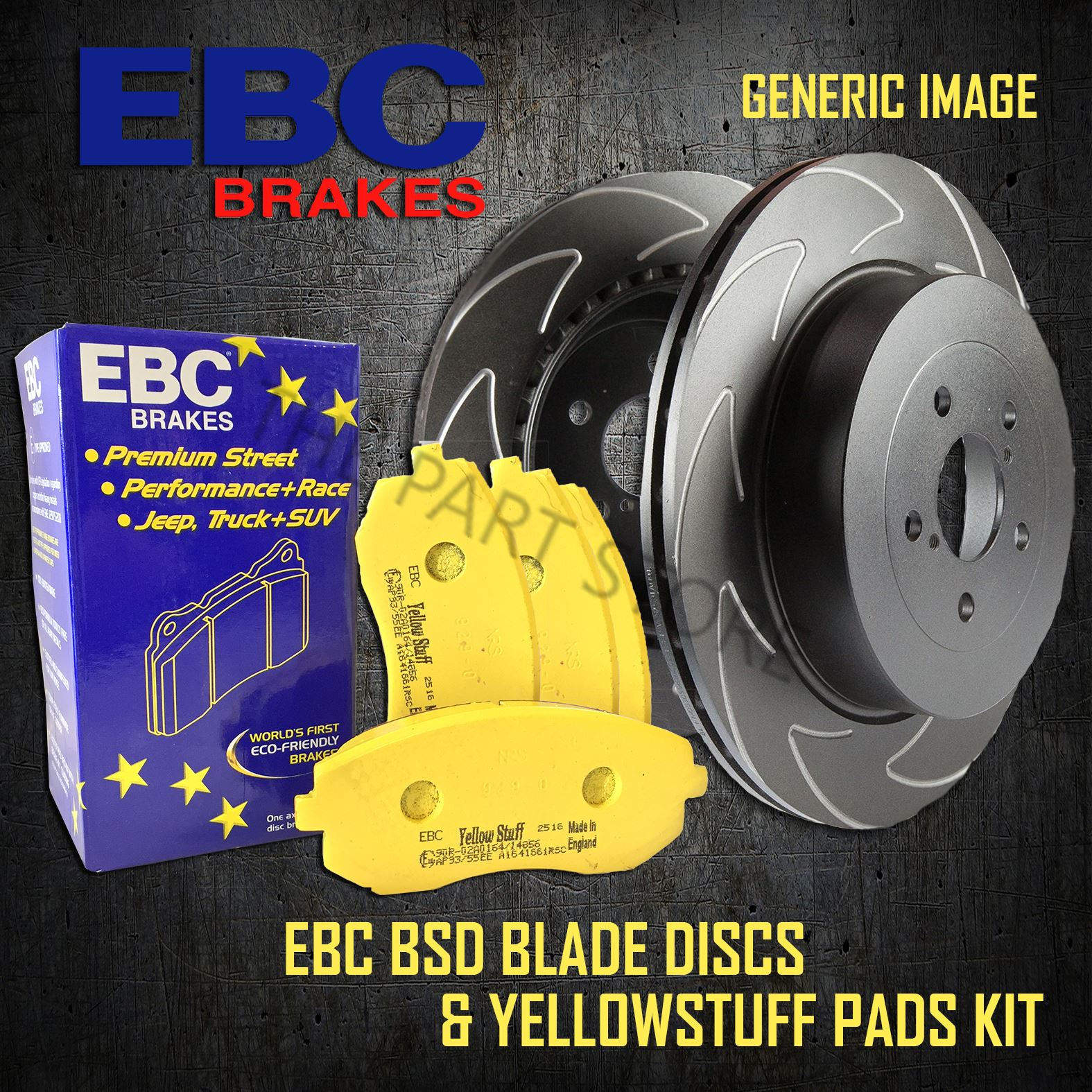 EBC Yellowstuff Uprated Rear Brakes Pads DP41479R