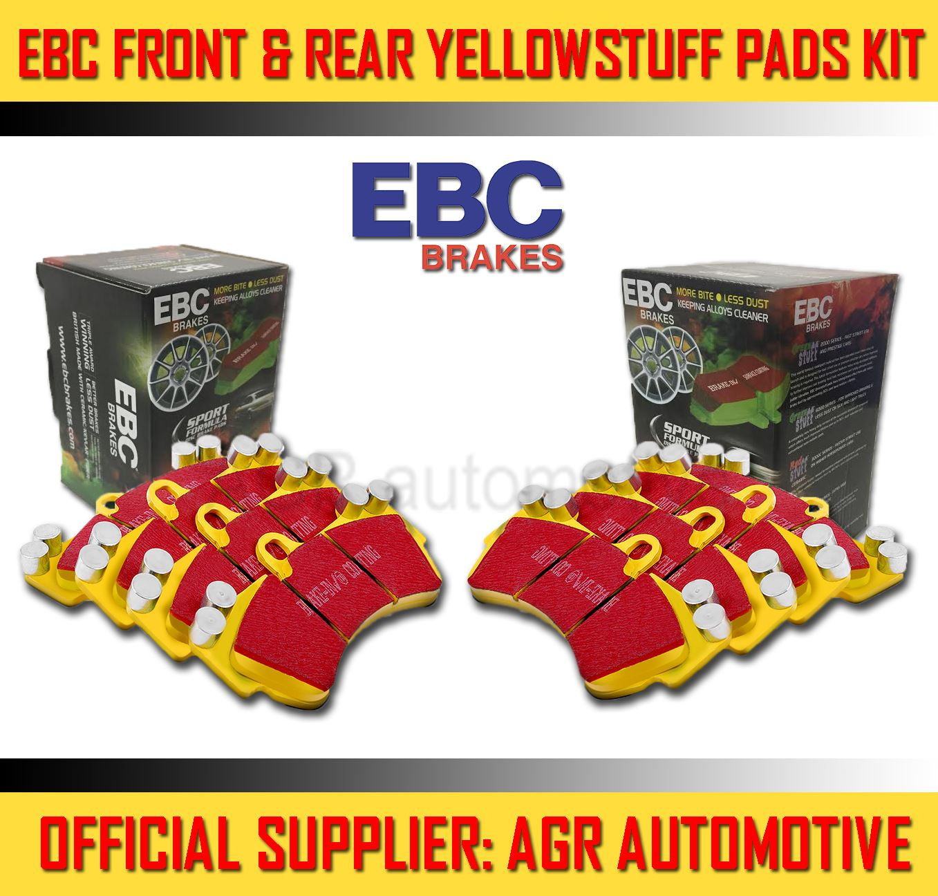 REAR PADS KIT FOR HONDA CIVIC 2.2 TD TYPE-S FN 2006-12 EBC FRONT