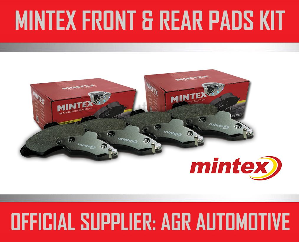 MINTEX FRONT AND REAR BRAKE PADS FOR TOYOTA MR2 1.6 (AW11) 1984-90