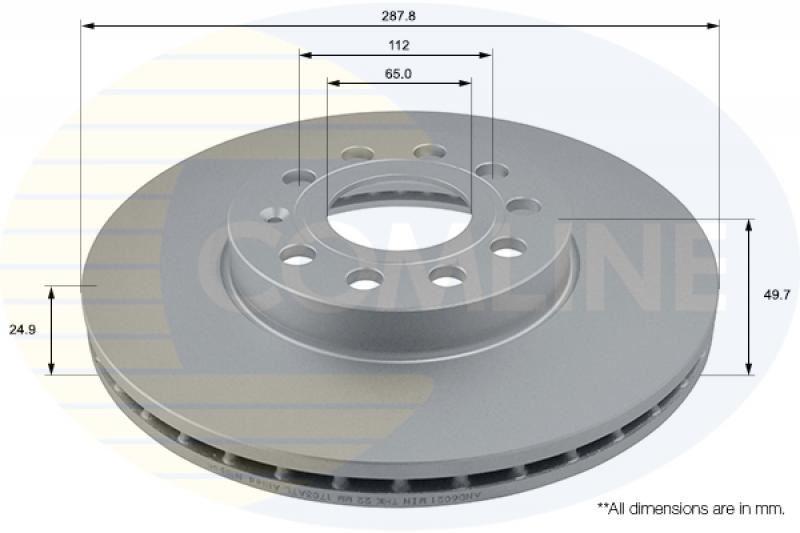 MDC1706C NEW MINTEX FRONT COATED VENTED BRAKE DISCS SET PAIR