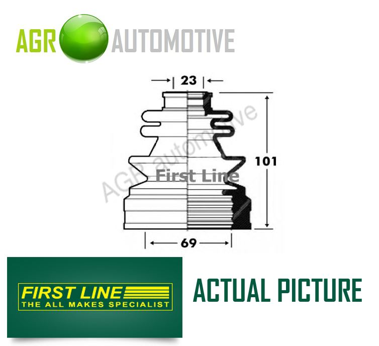 FIRST LINE TRANSMISSION END DRIVESHAFT CV JOINT BOOT KIT OE QUALITY FCB2852
