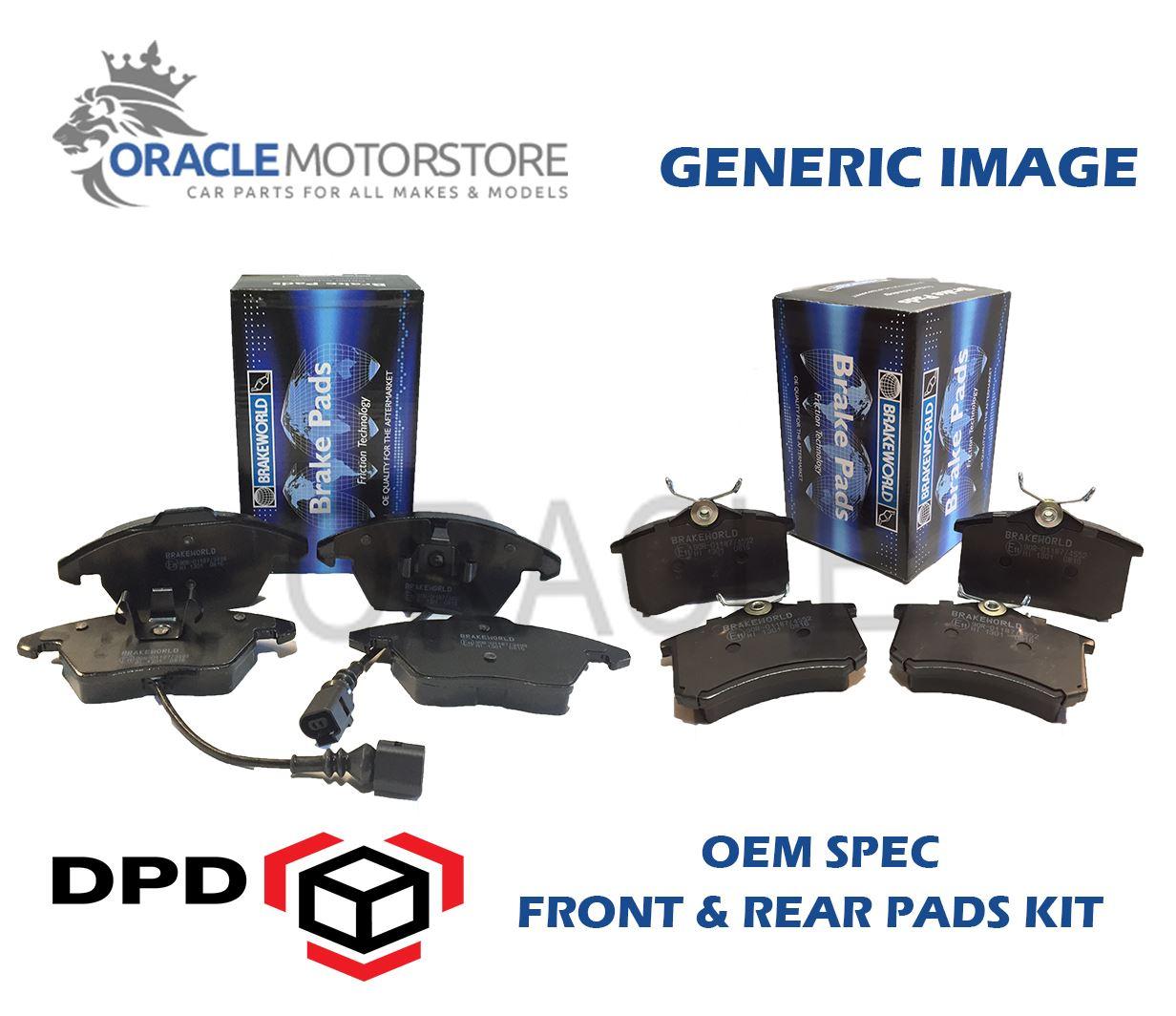 EE8 OEM SPEC FRONT REAR PADS FOR HONDA CIVIC CRX 1.6 VTEC 1990-92