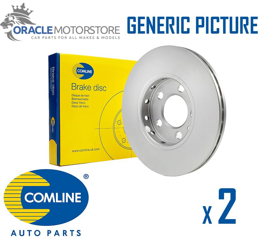 Genuine OE Quality Comline Solid Rear Brake Discs /& Pad Set